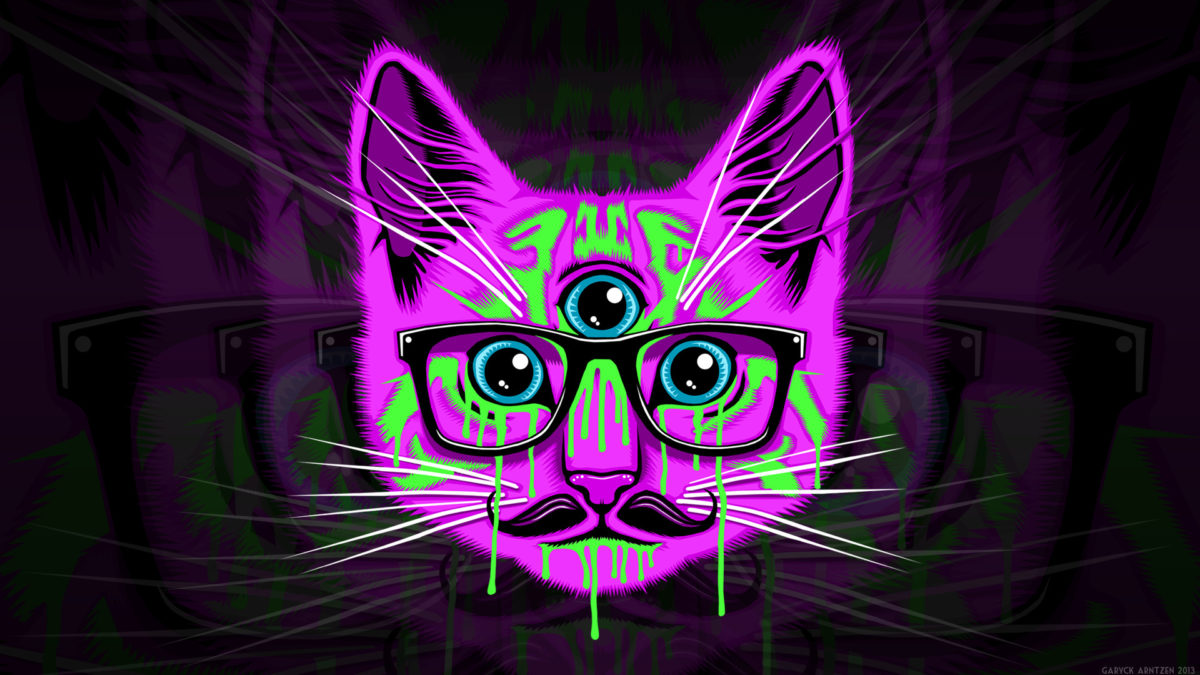 Meow Illuminati Wallpaper HD.
