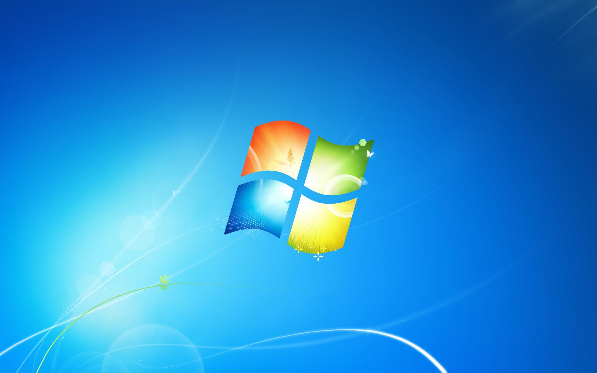 "Windows 7: Default ""Harmony"" wallpaper …"