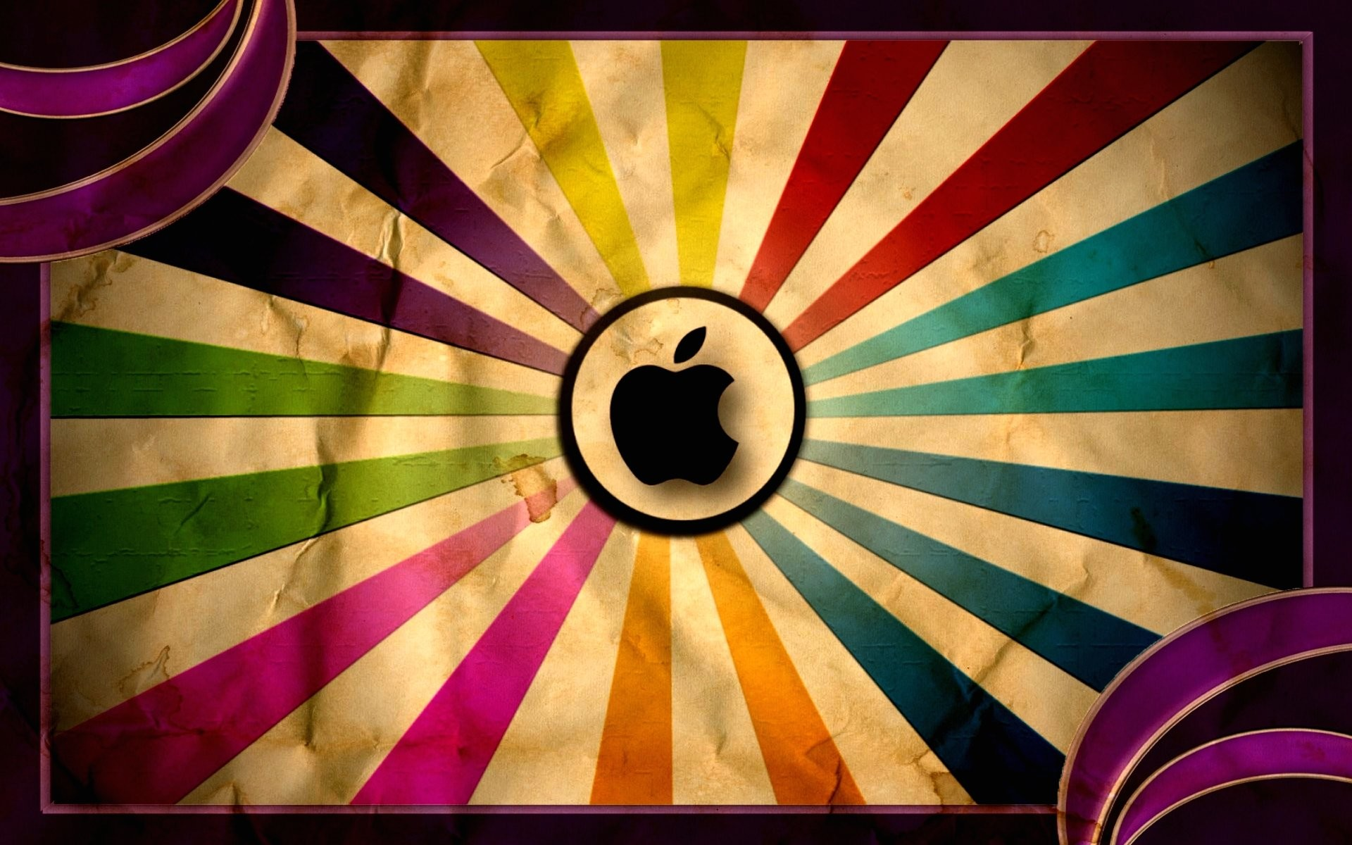 Wallpaper old style apple