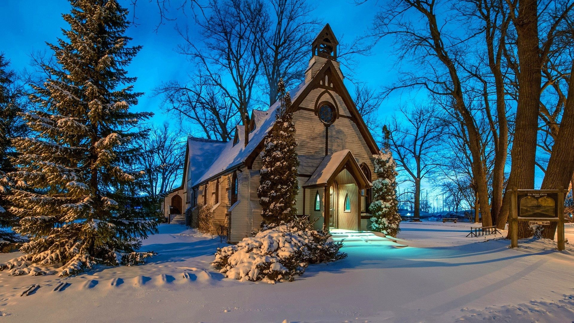 Building Tag – Coldness Season Trees Nature Winter Woods Forest Frost  Building Ice Church Snow Animated