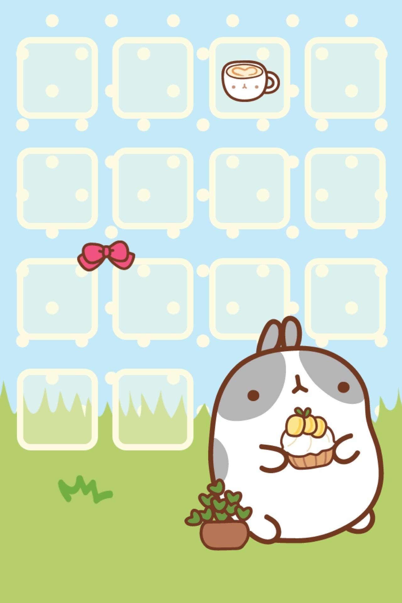 Molang iPhone Theme & Wallpaper – Kao-ani.com