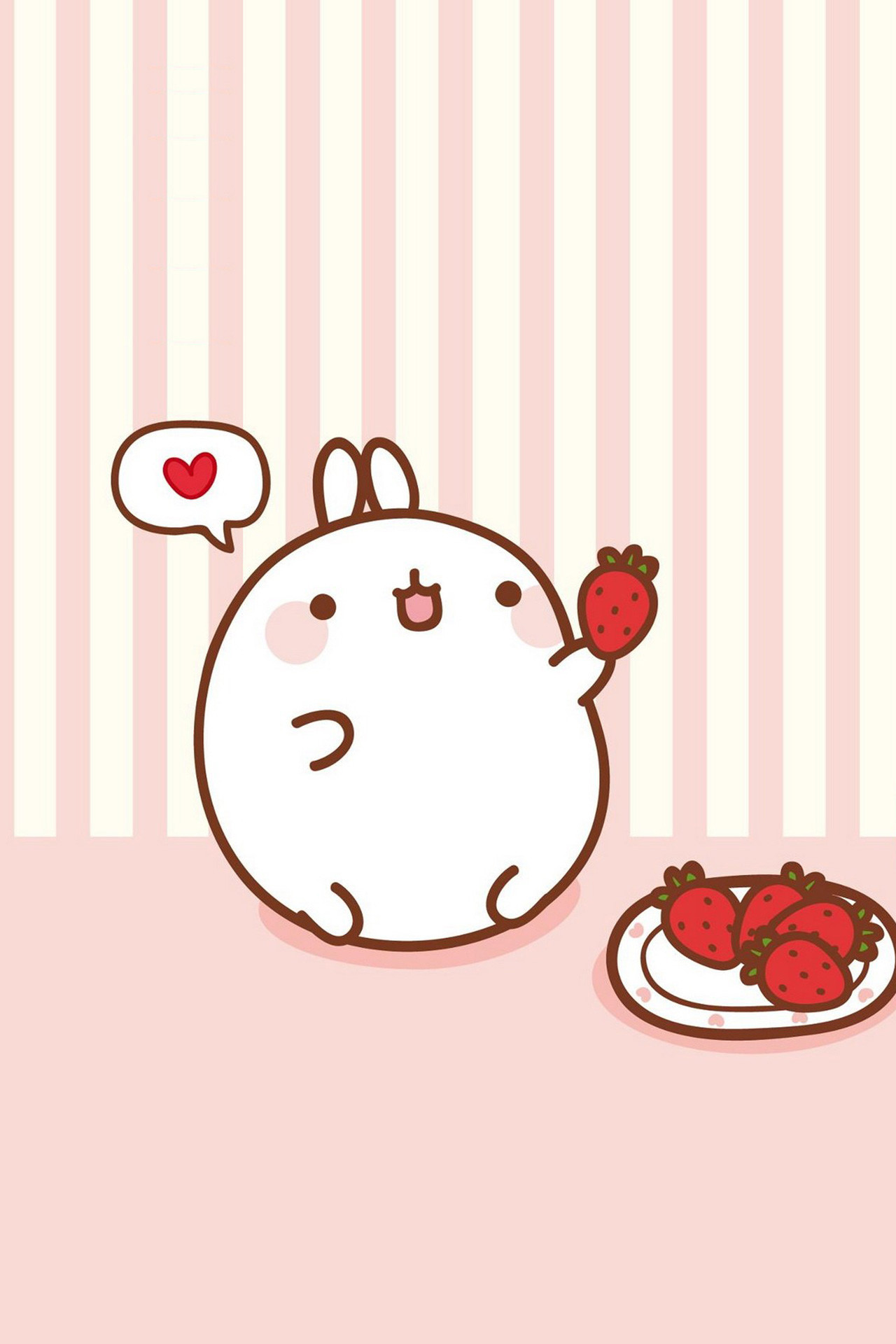 Molang ☆ Find more super cute Kawaii wallpapers for your #iPhone + #Android  @