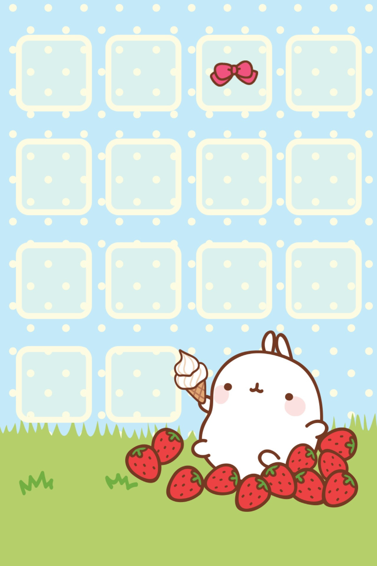 Cute home screen Kawaii wallpaper