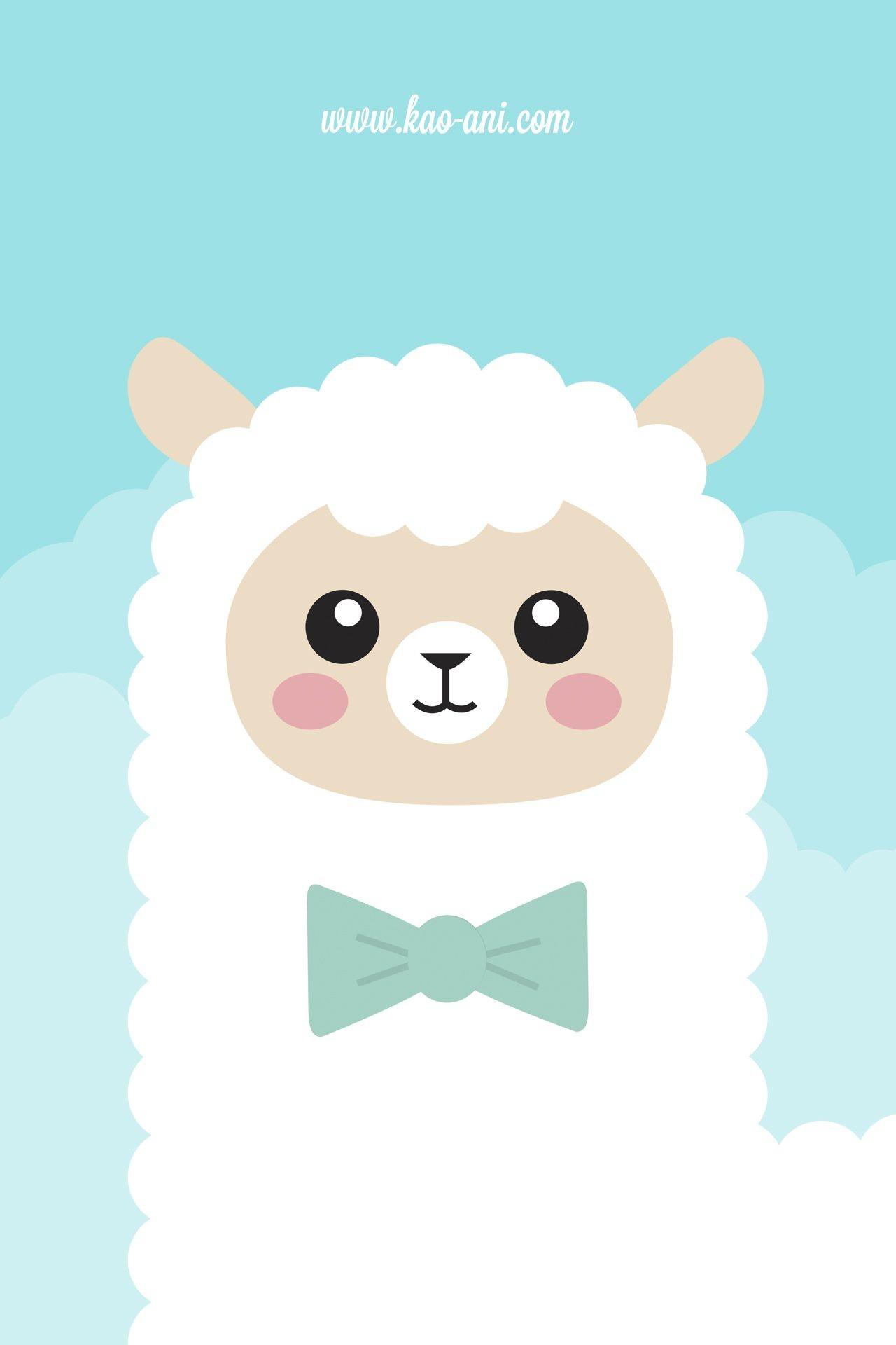 Alpaca iPhone Wallpaper | Kao-ani.com – Wallpaper Zone. Kawaii  WallpaperIphone 5 WallpaperCute …