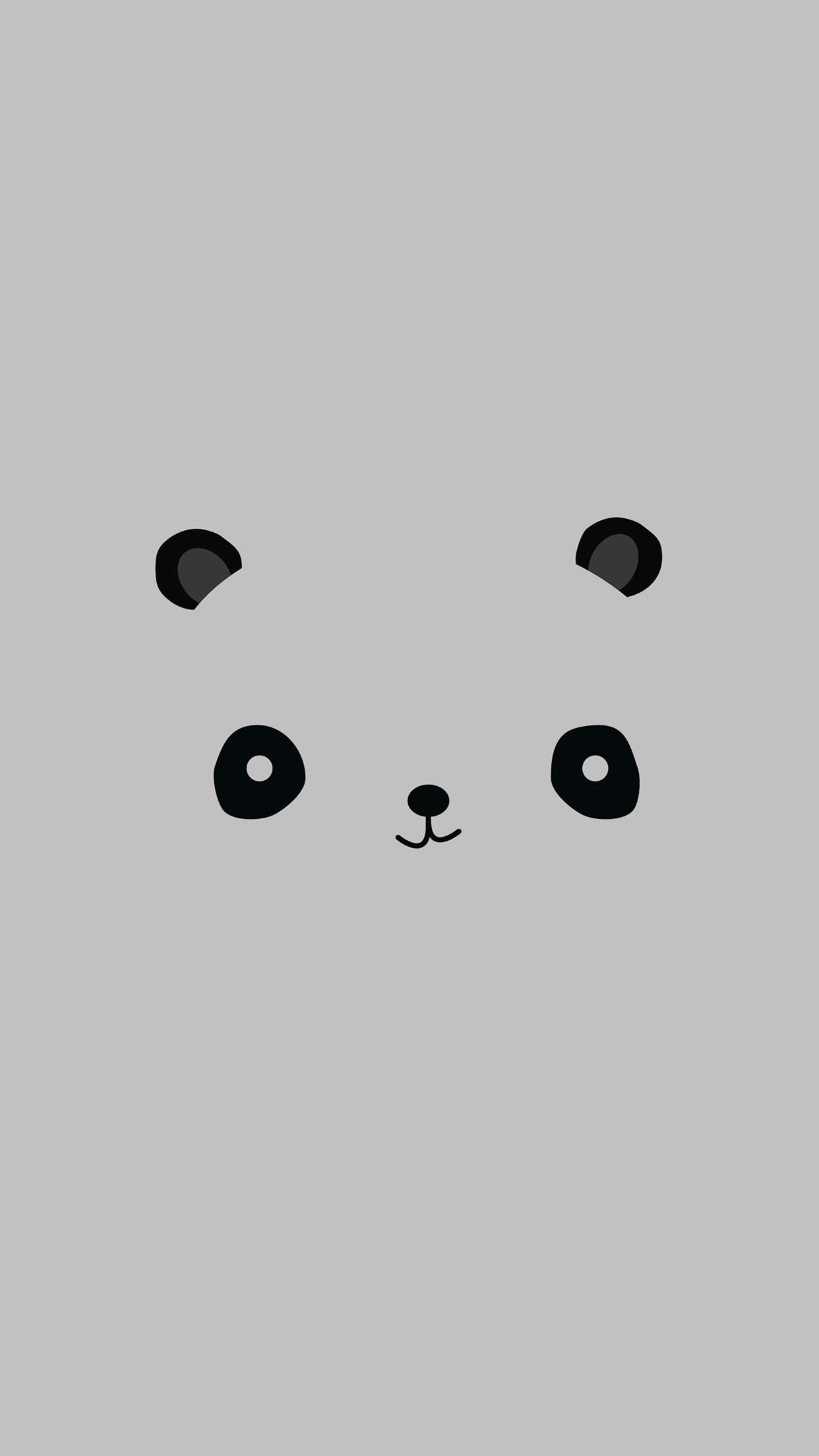 Cute Minimal Panda Android Wallpaper free download