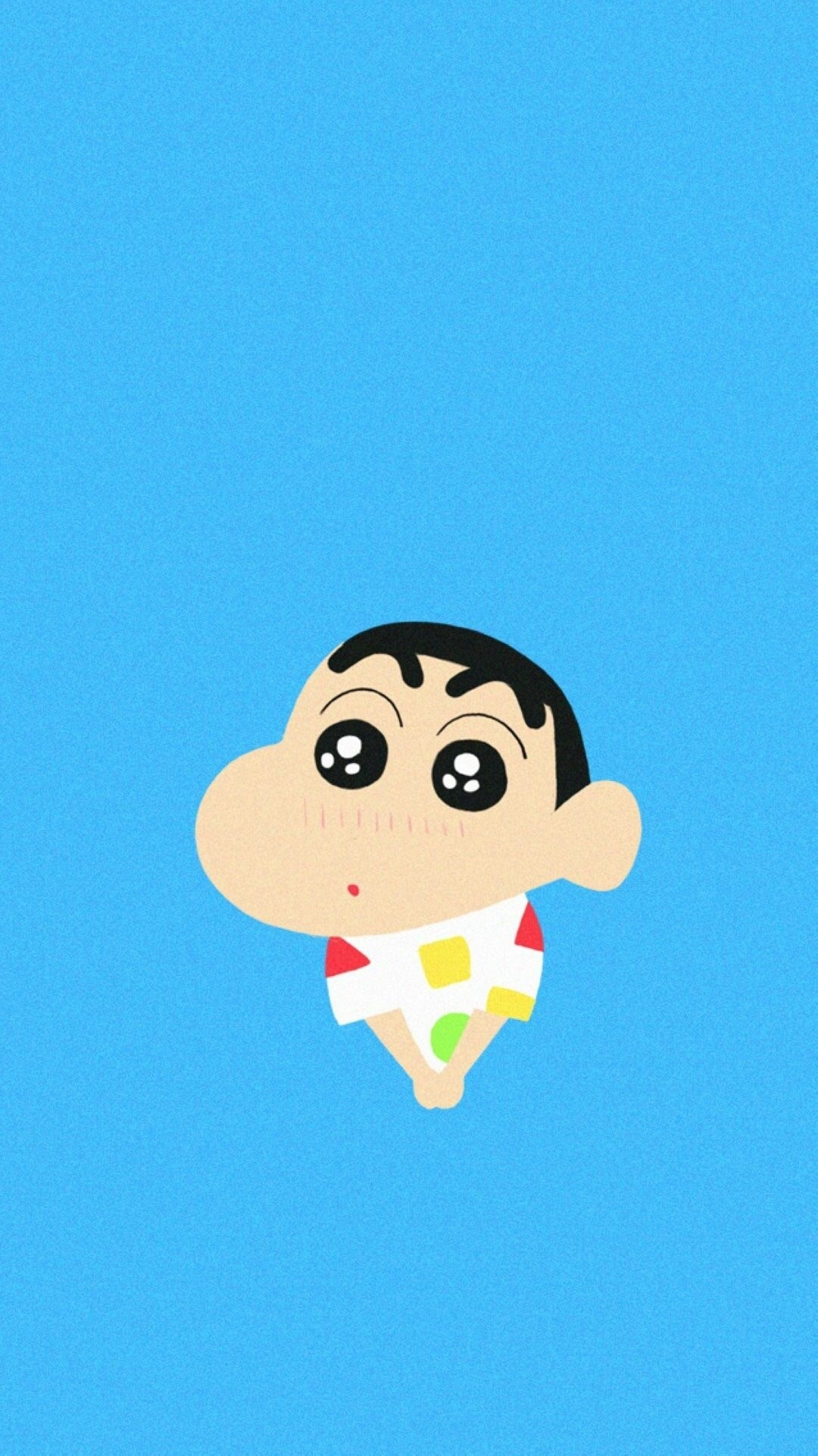 Crayon Shin Chan Shy Cute Lovely #iPhone #6 #plus #wallpaper