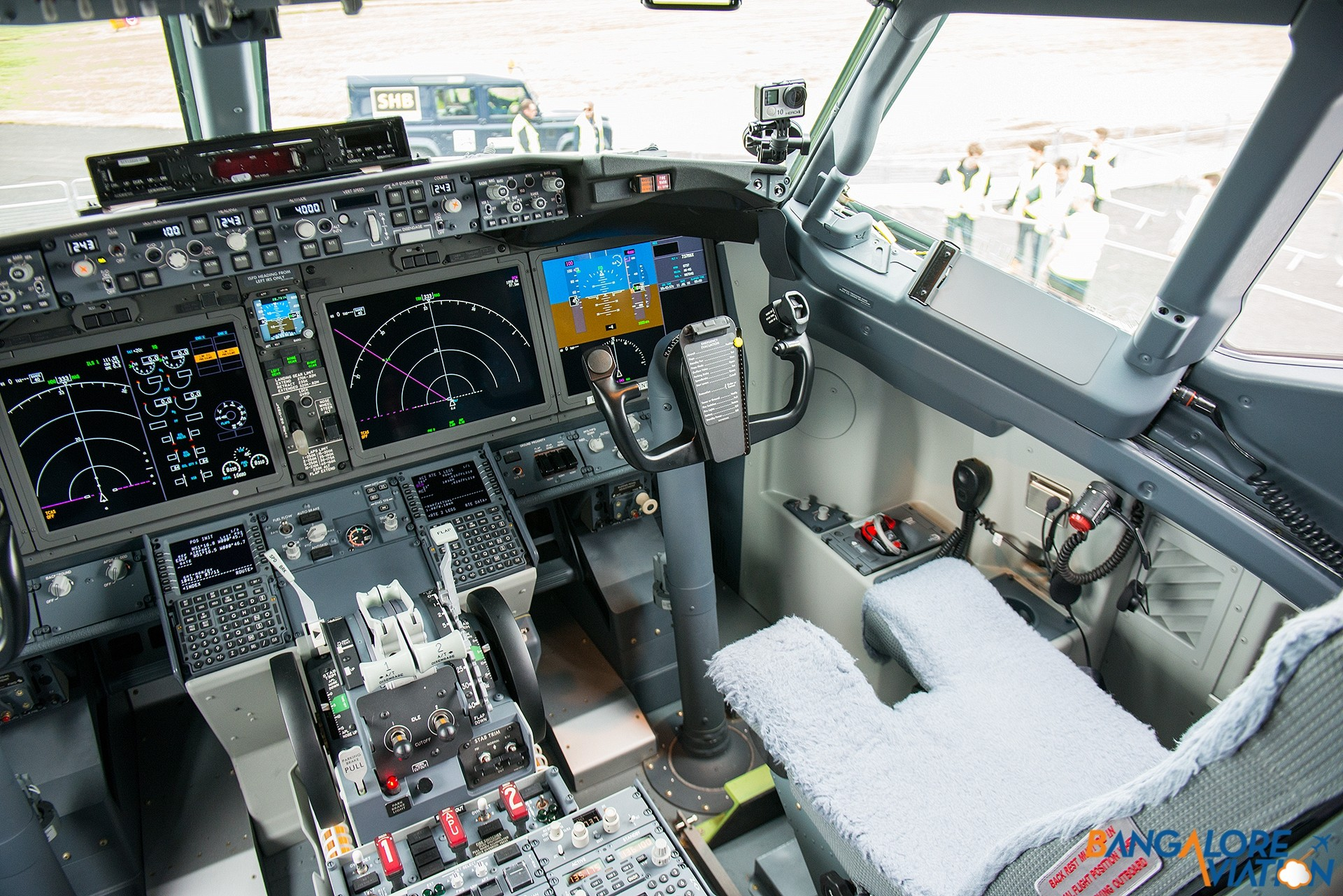 The new flightdeck with Large Format Displays.
