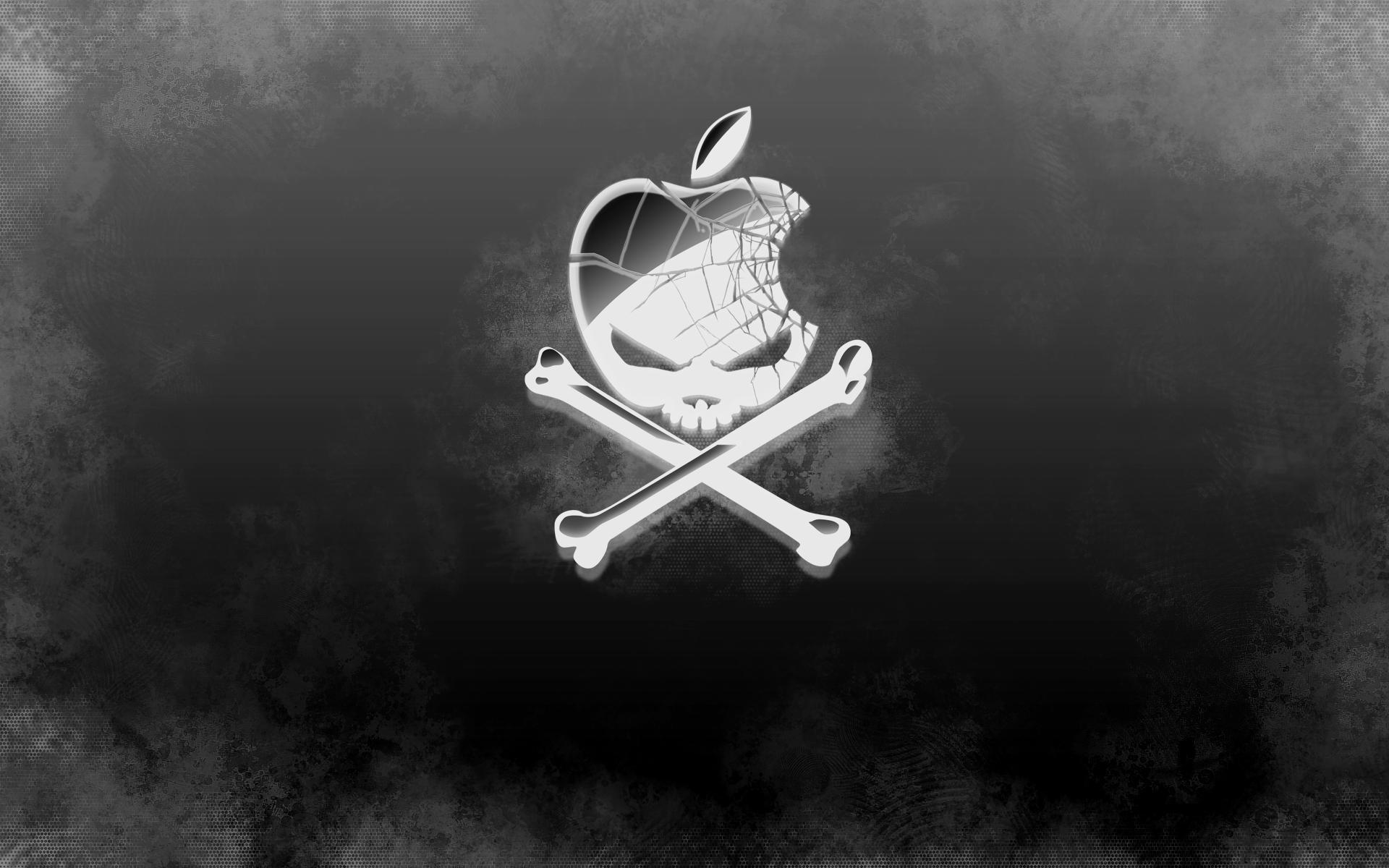 Apple Skull Logo Download Cool Silver Skull Apple Logo Wallpaper .
