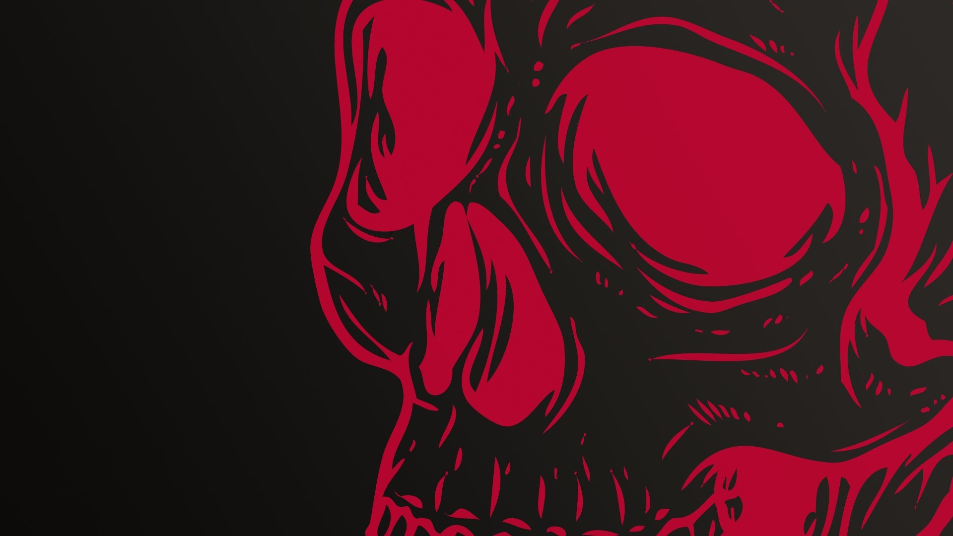 Skull Wallpapers Group 1920×1080 Red And Black Skull Wallpapers | Adorable  Wallpapers