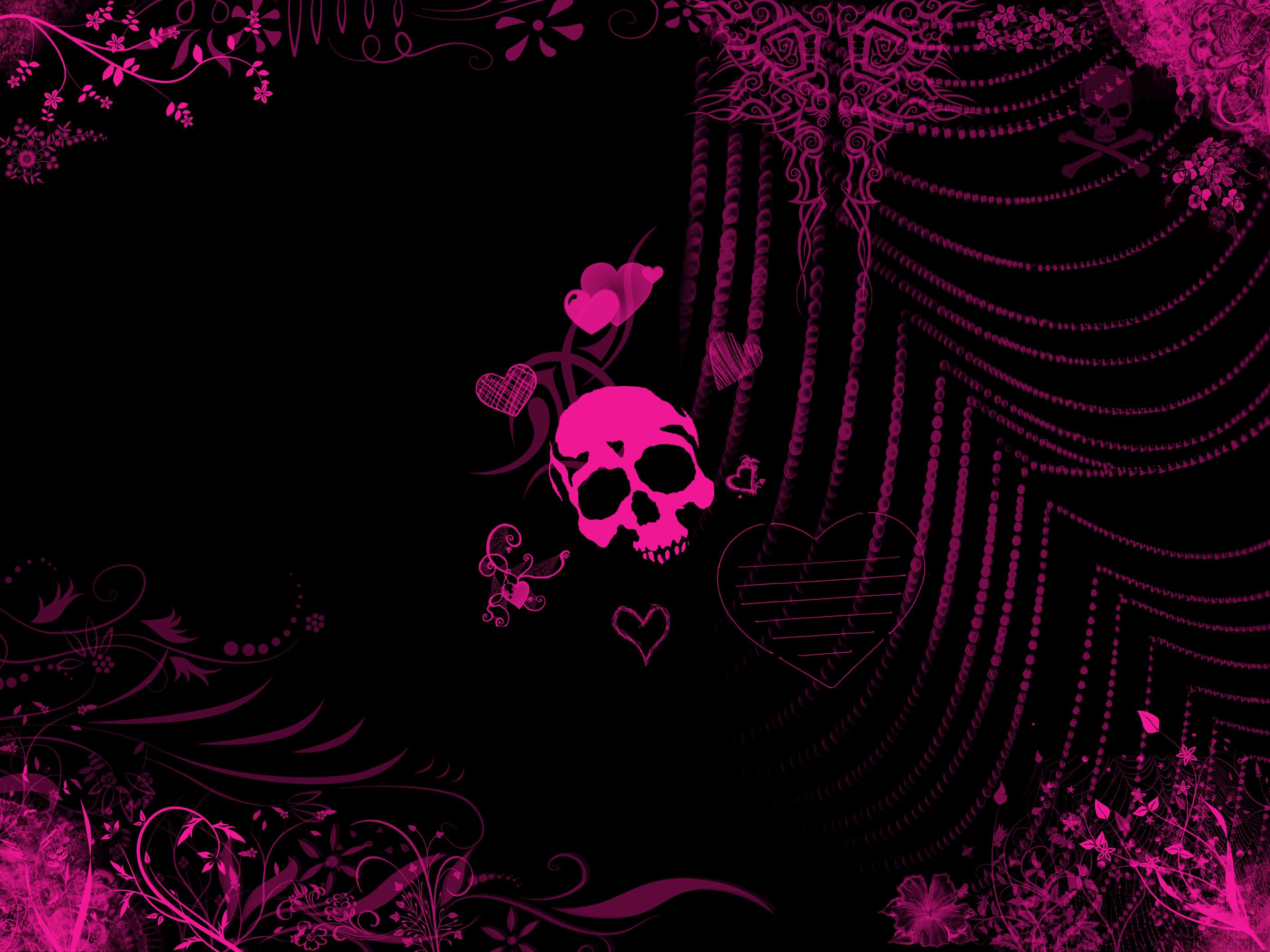 Girly Skull Wallpaper Related wallpaper for pink emo