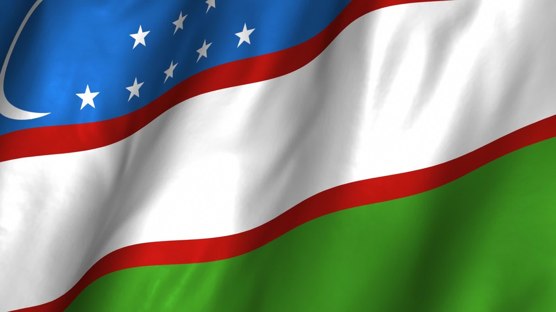 Flag of Uzbekistan wallpaper
