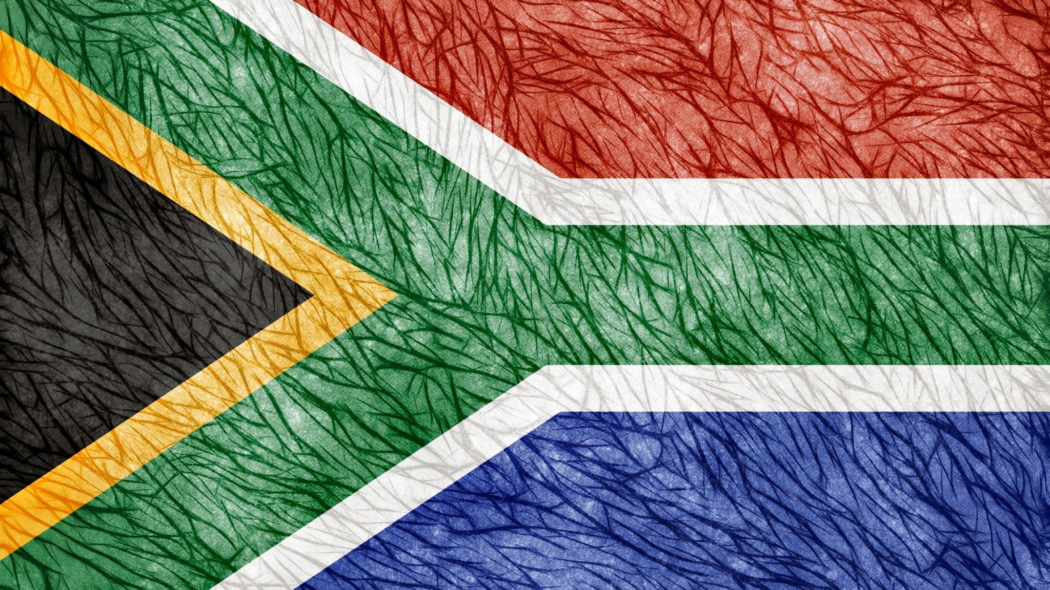Preview wallpaper flag, south africa, texture 2048×1152