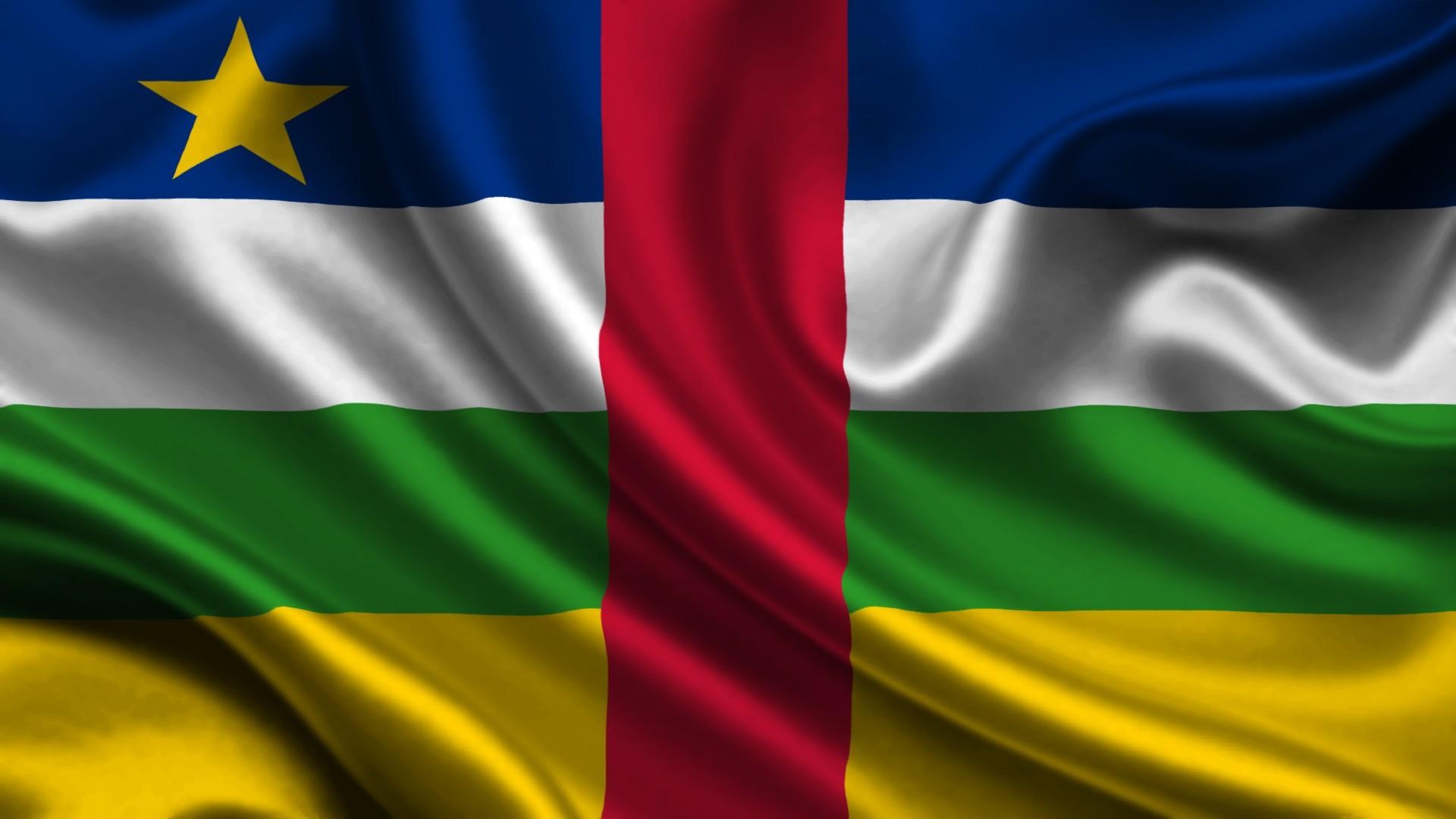 Central African Republic flag wallpaper