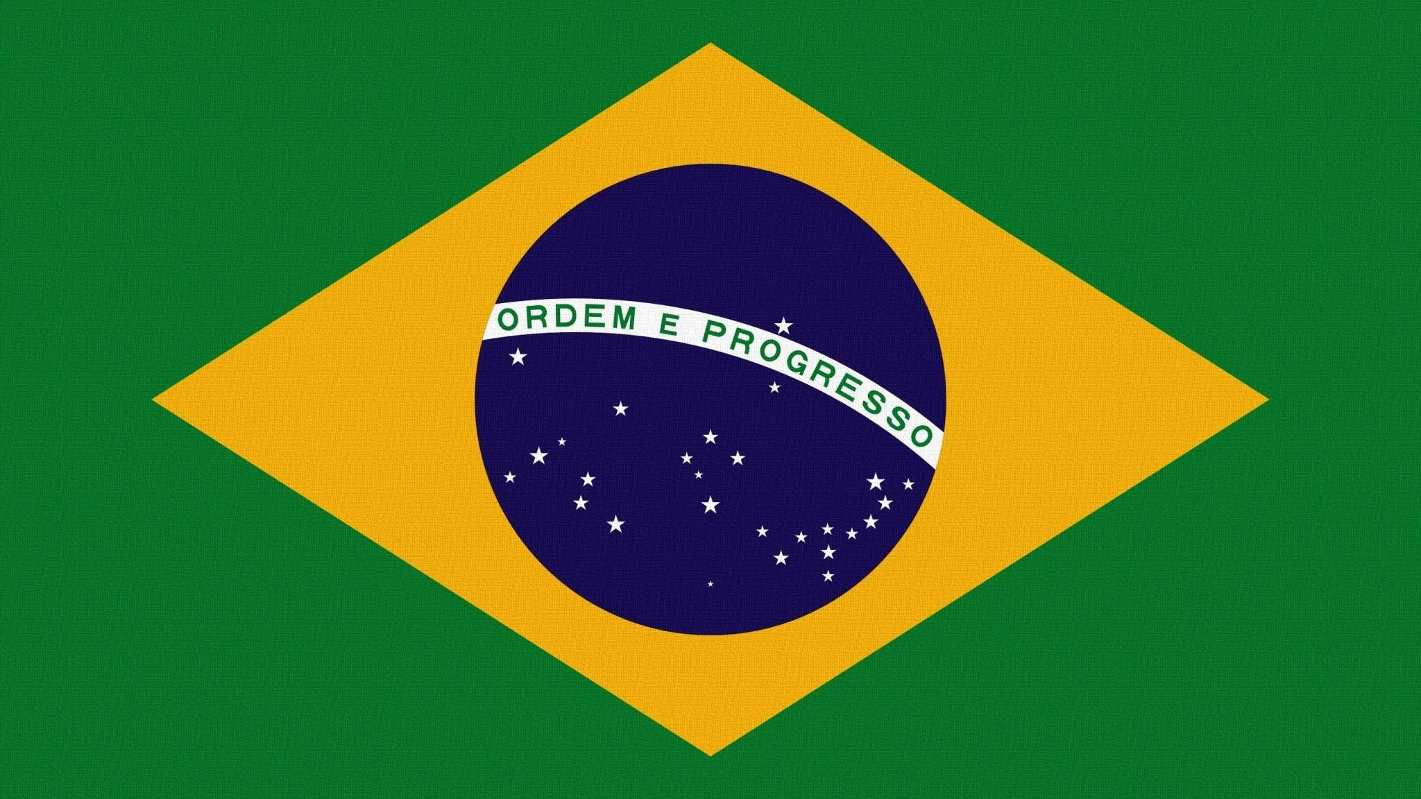 Preview wallpaper flag, brazil, symbolism 2048×1152