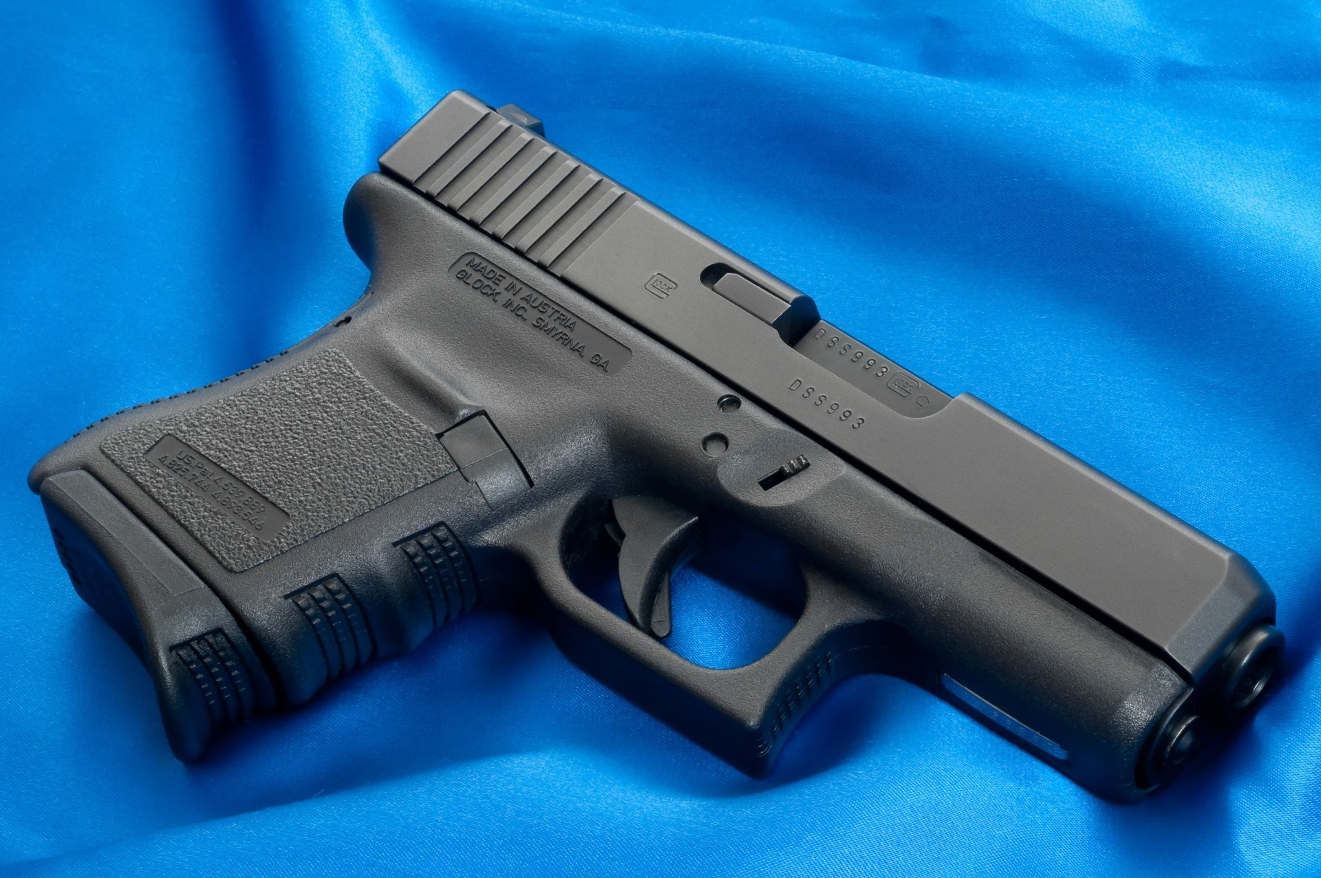 glock weapons wallpapers glock gun weapon wallpaper canvas blue cloth  background