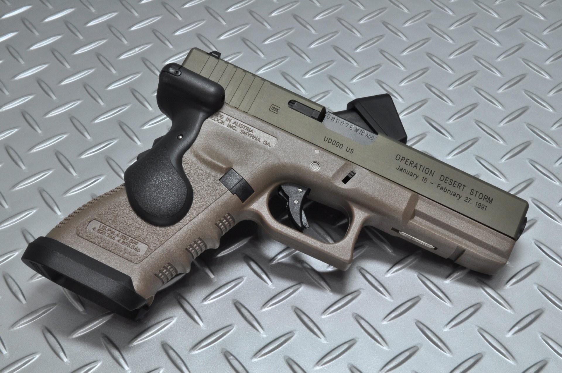 glock self-loading gun weapon background