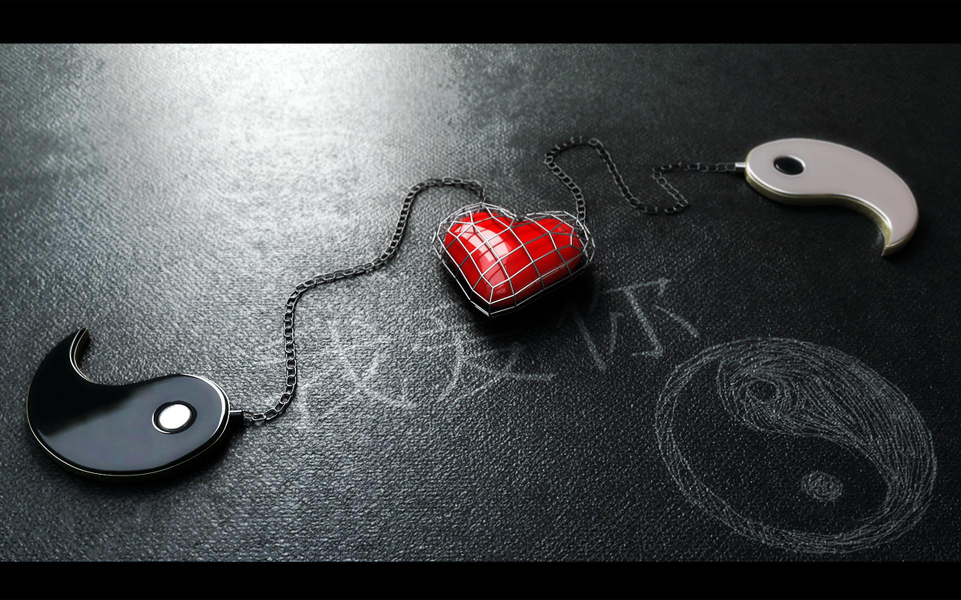 Yin and Yang · Heart WallpaperHd …