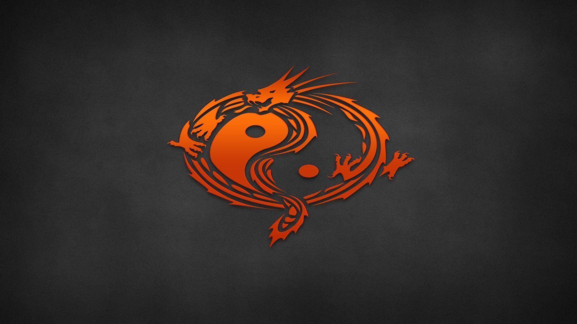 Ying Yang Abstract Dragon And Tiger Yin Ipad Iphone Hd Free Wallpapers