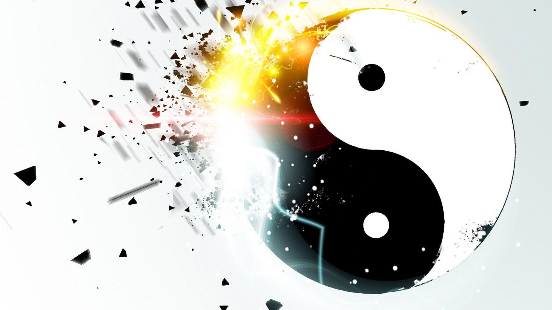 Exploding Yin and yang HD Wallpaper Exploding …