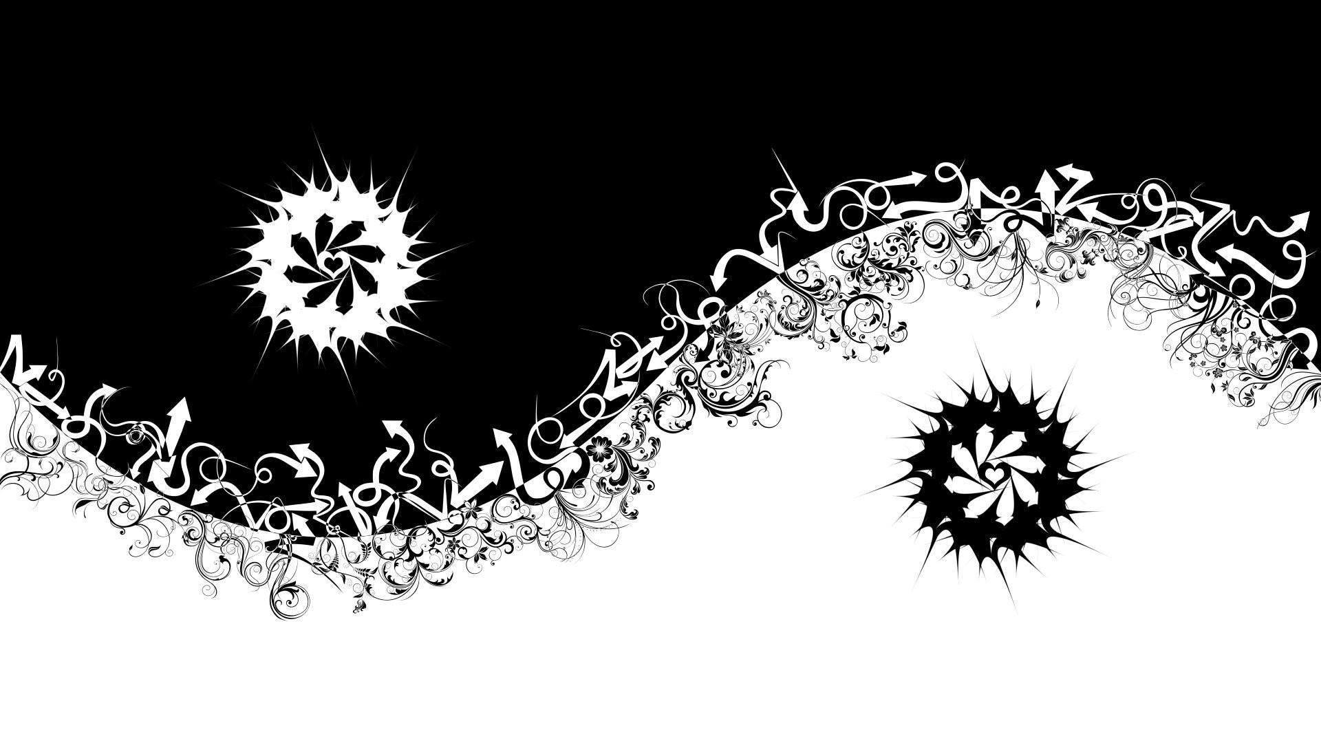 white yin yang abstract shooter