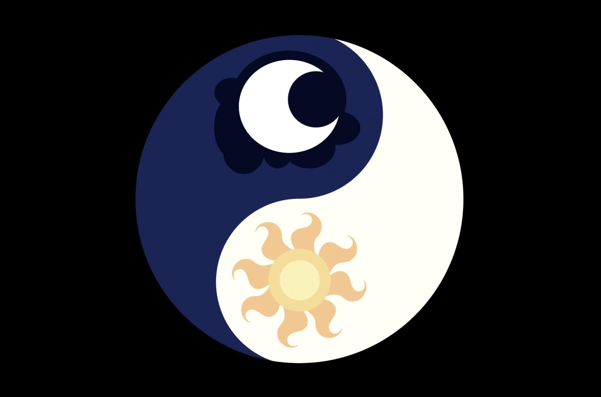 mark yin – yang crescent sun