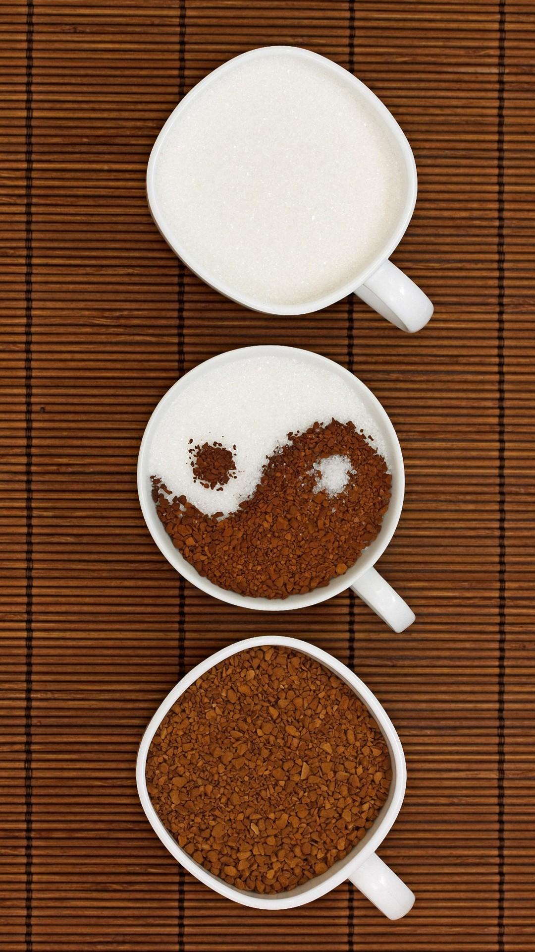 cute yin yang coffee iphone 6 wallpapers HD