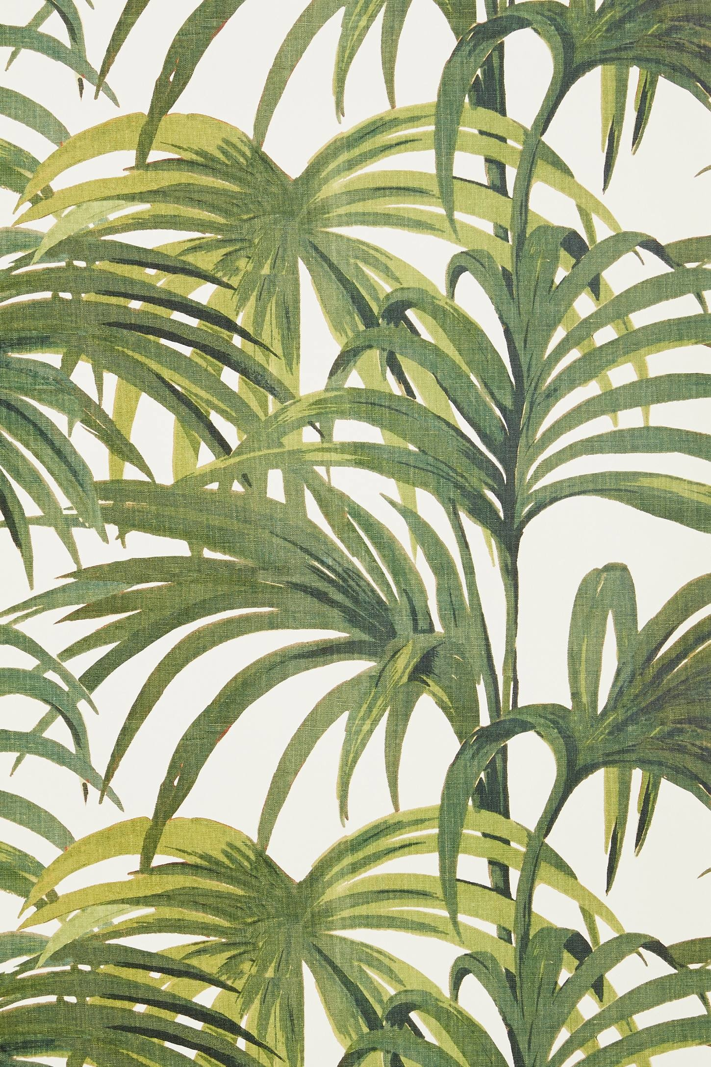 Palmeral is an Art Deco inspired patio print featuring an explosion of palm  leaves reminiscent of Palm Springs. The print pays homage to Loddiges, …