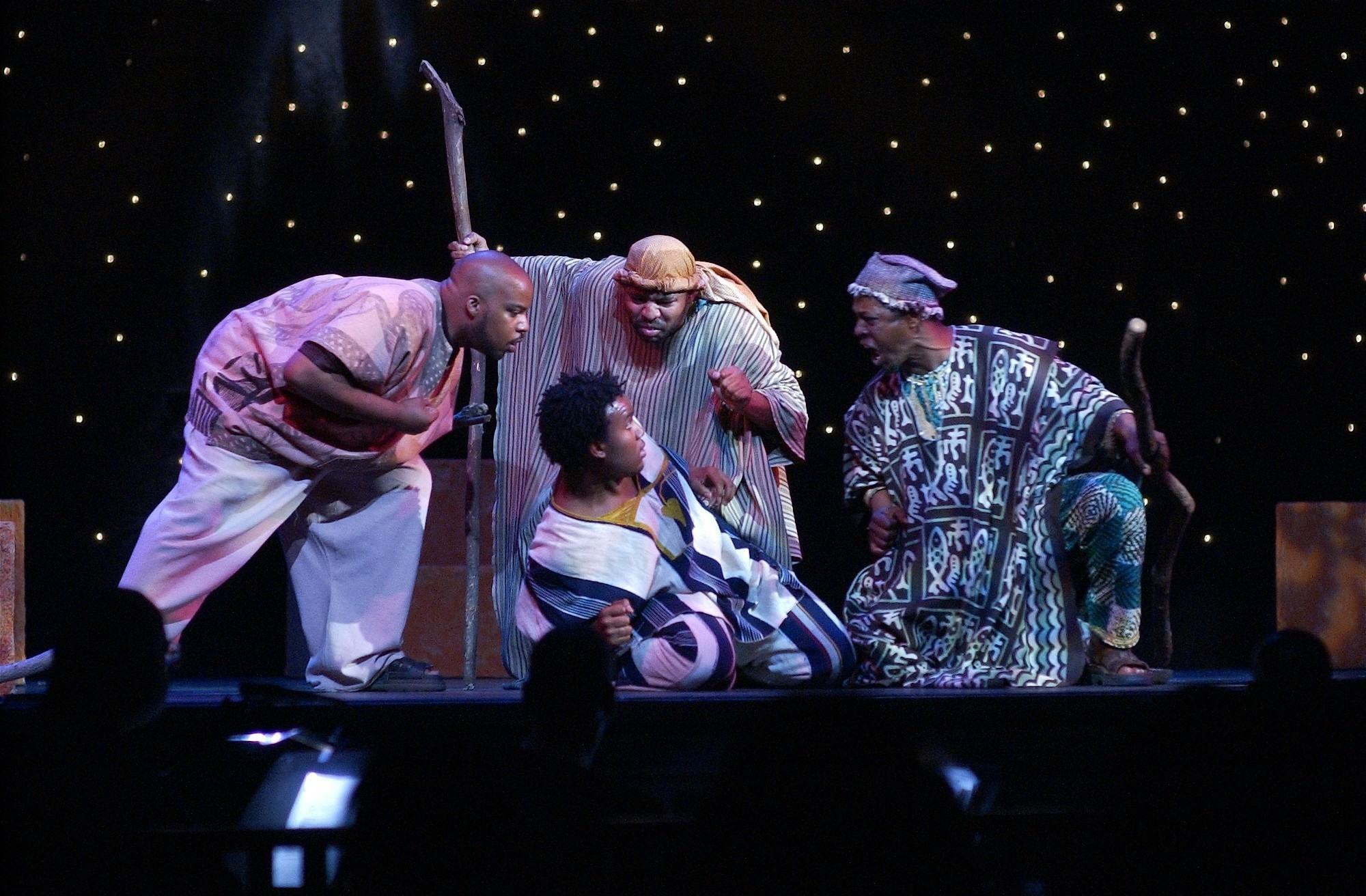 Black Masks: Feature The shepherd scene from North Carolina Black Repertory  Company's 2007 production of