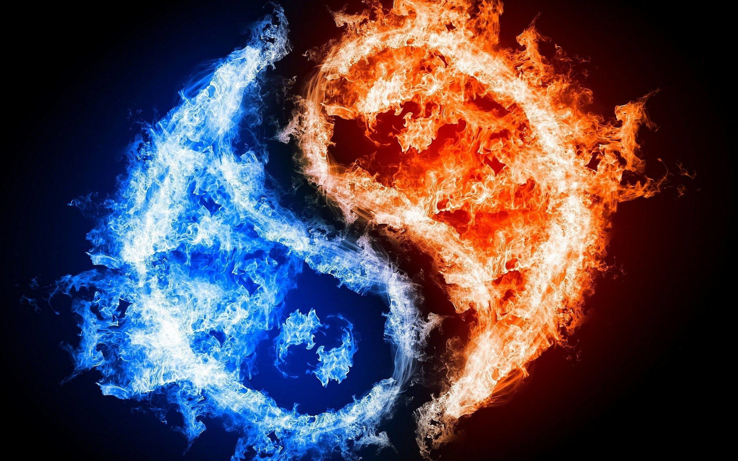 Yin Yang Fire Ice Wallpapers | Pictures