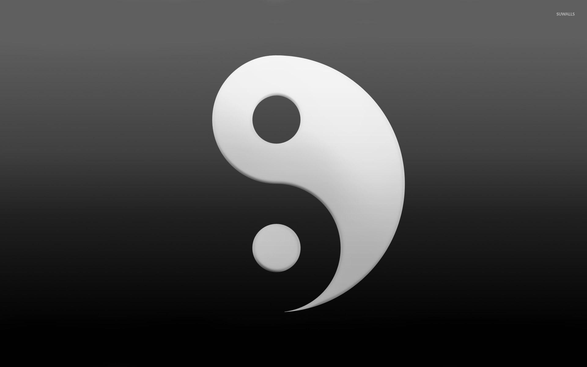 Yin and yang wallpaper