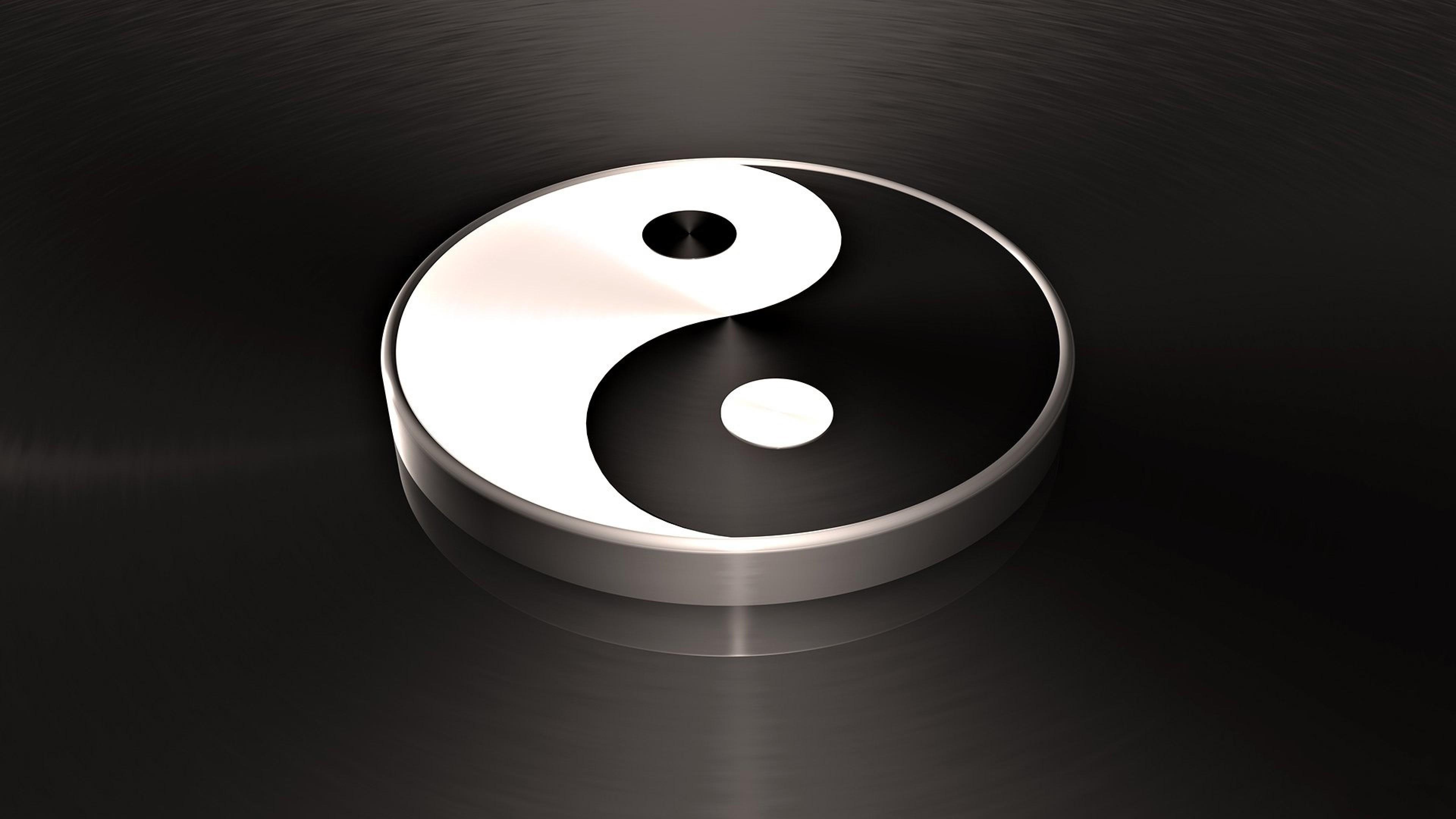 Wallpaper yin, macro, white, yang
