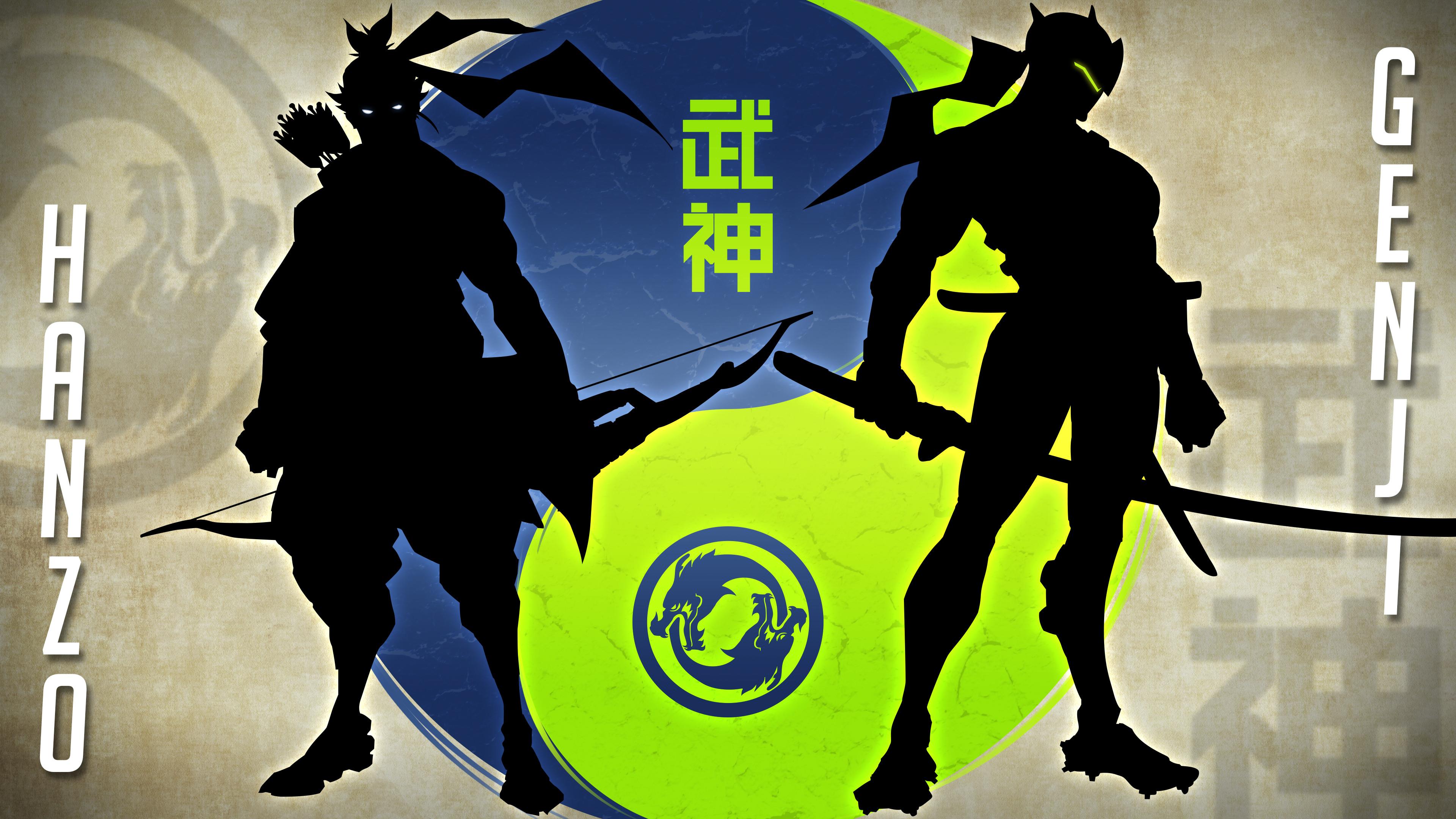 Video Game Overwatch Genji (Overwatch) Hanzo (Overwatch) Yin & Yang Shimada  Wallpaper