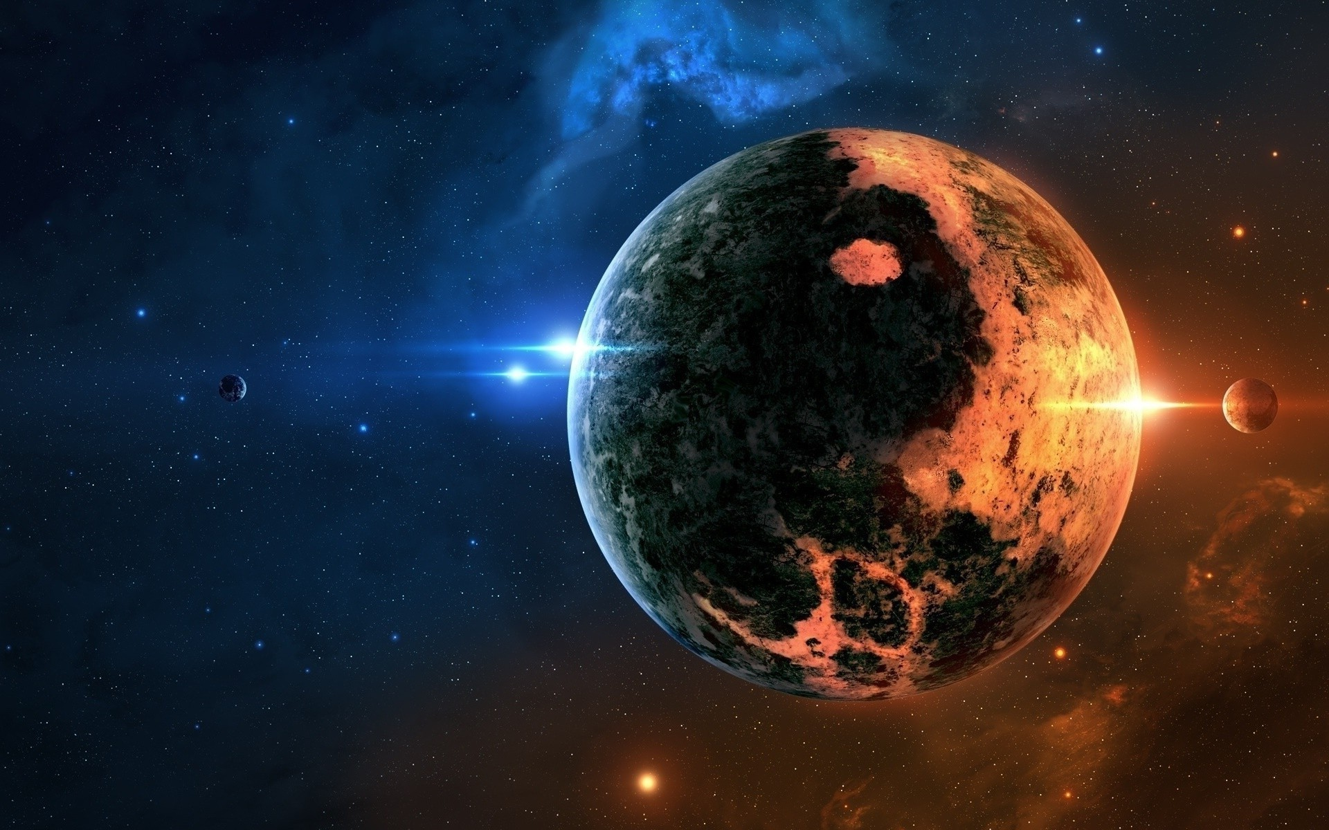 space Art, Space, Planet, Glowing, Yin And Yang Wallpapers HD / Desktop and  Mobile Backgrounds