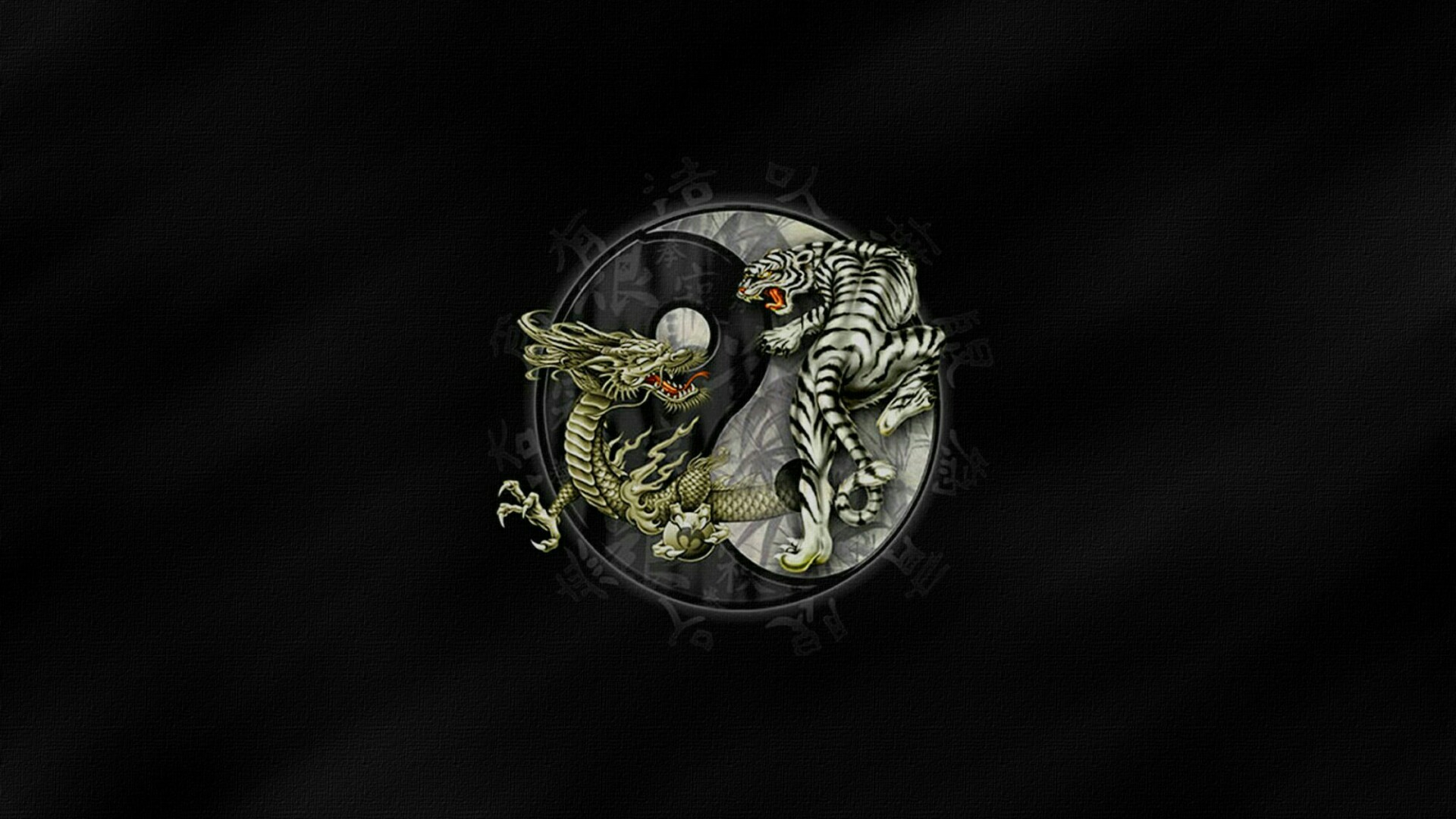 Title. Tiger and dragon Yin and Yang