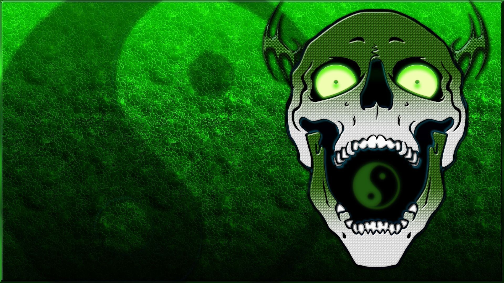 Skull yin yang wallpaper