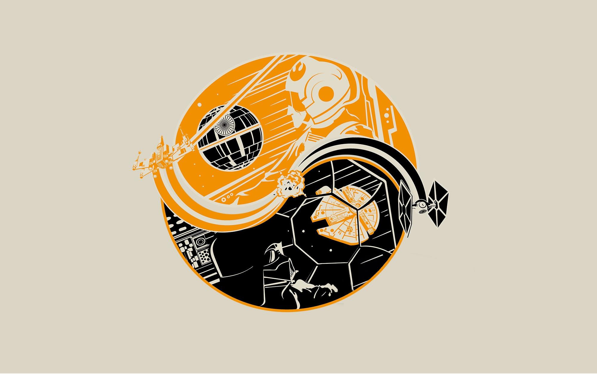 Star Wars Yin Yang Wallpaper – Death of a Star/Birth of a Hero