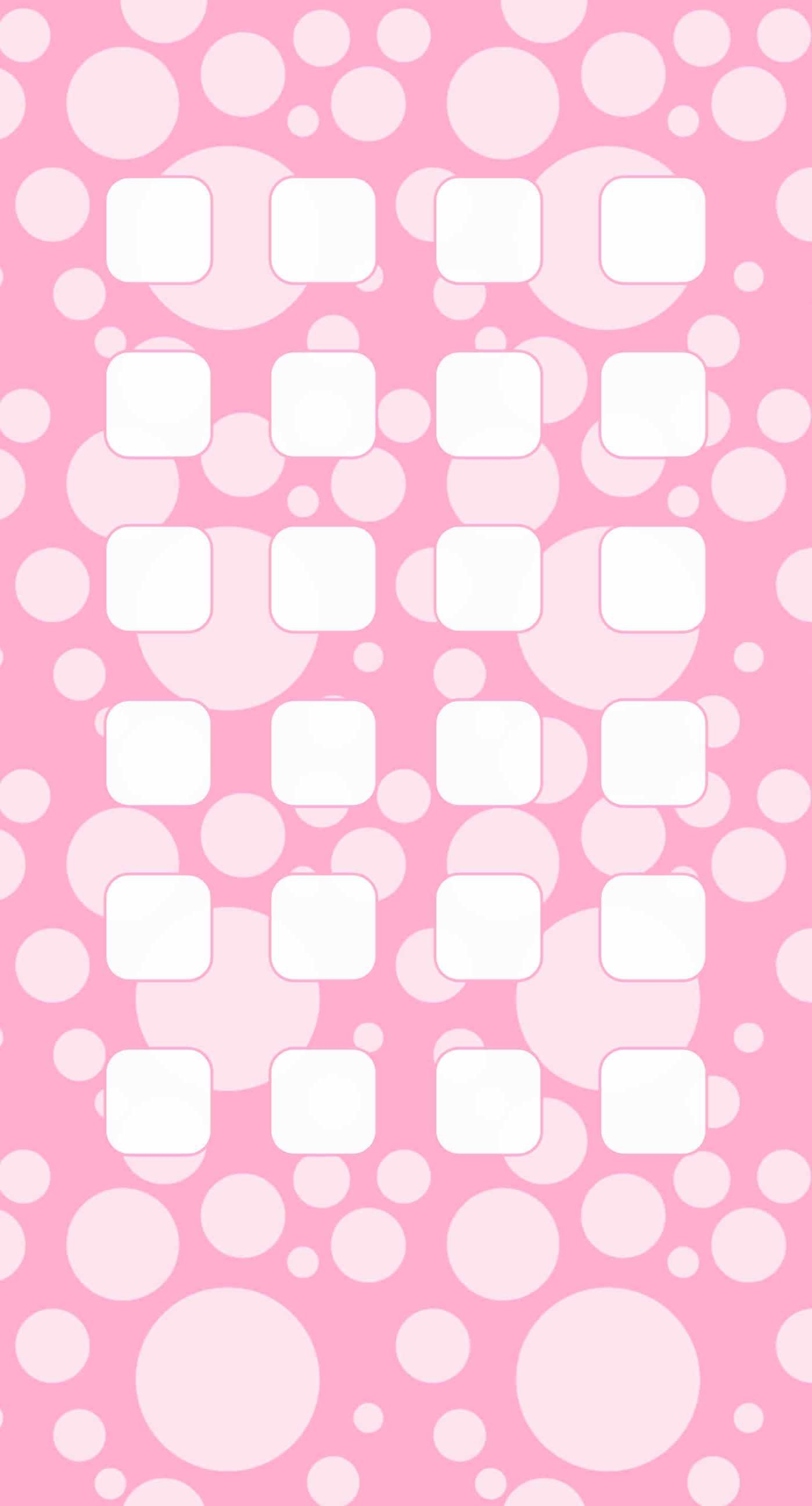 Polka dot pattern for girls pink shelf iPhone6s Plus / iPhone6 Plus  Wallpaper