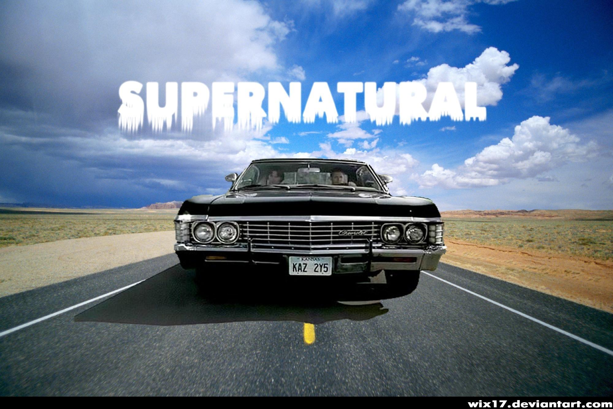 supernatural impala wallpaper widescreen supernatural 67 impala by