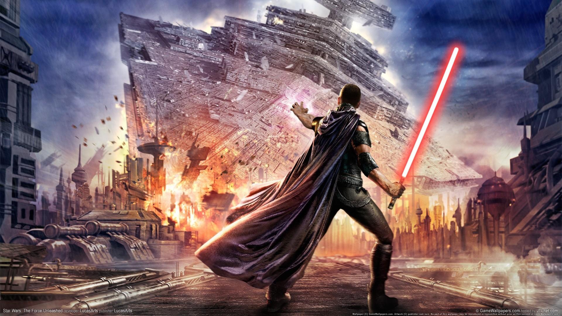 Wallpaper star wars, the force unleashed, lightsaber