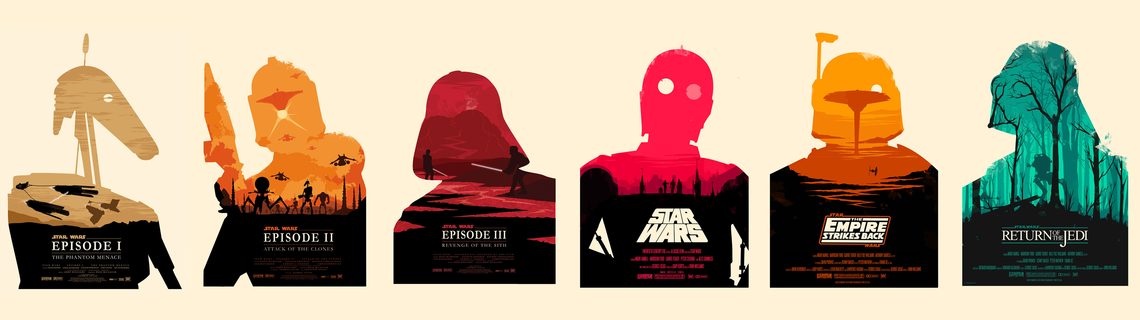 Dual monitor Star Wars posters [3840×1080] …