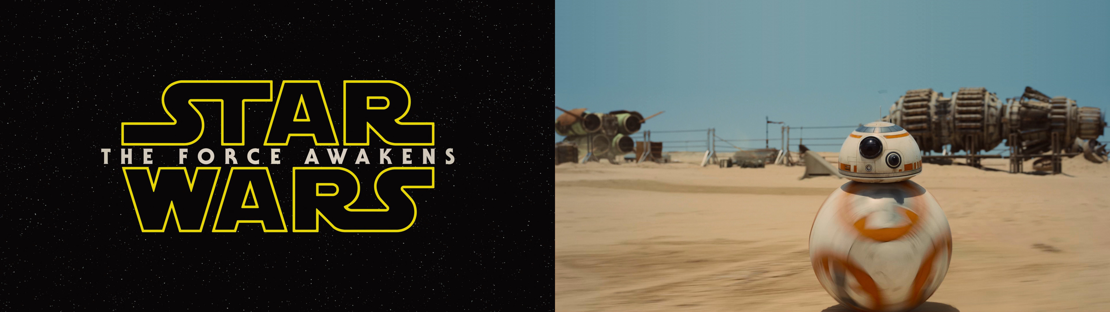 [3840 x 1080] A Star Wars: The Force Awakens split wallpaper.