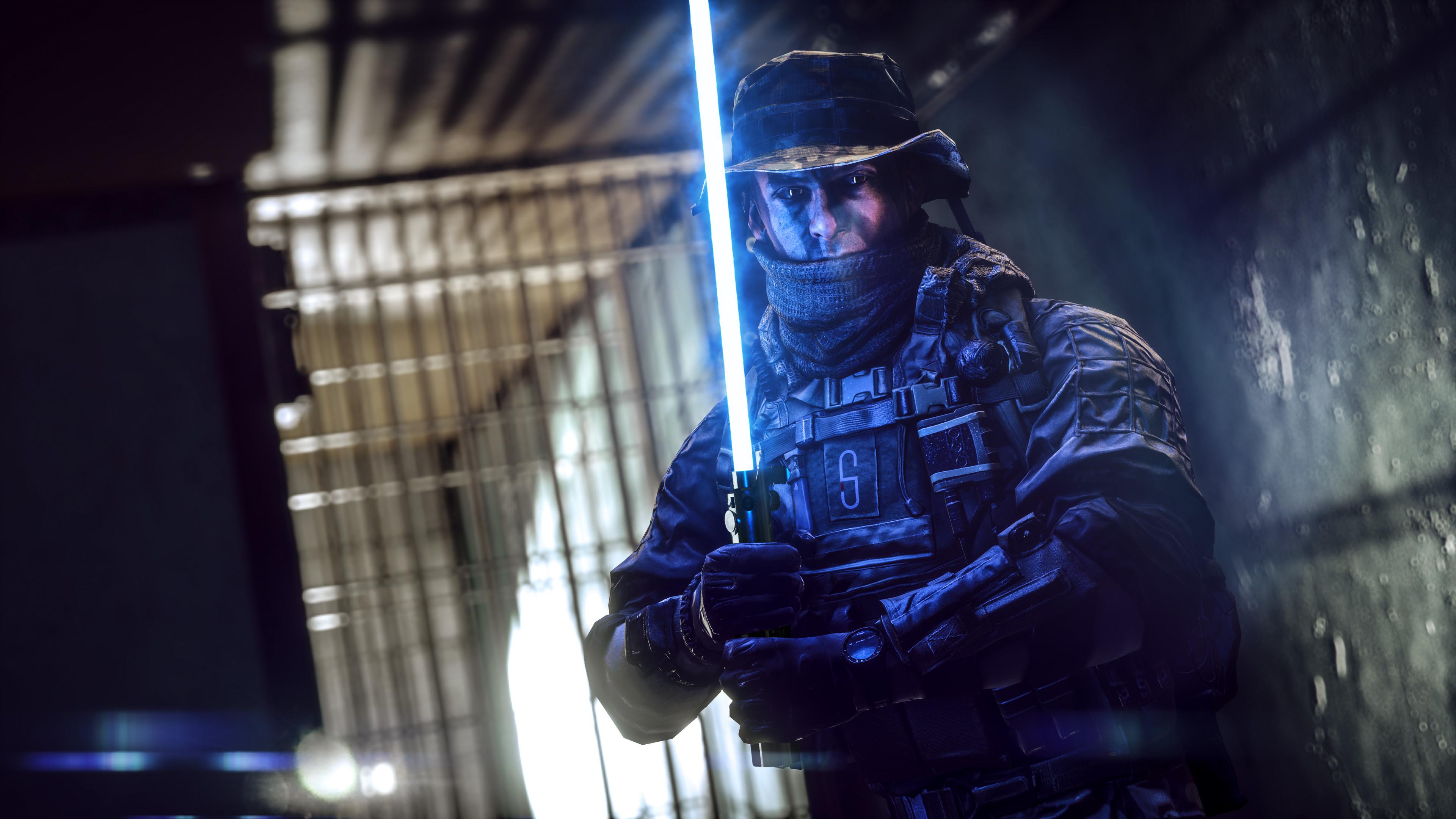 StarField Battlewars, Soldier, Lightsaber, Star Wars, 4K
