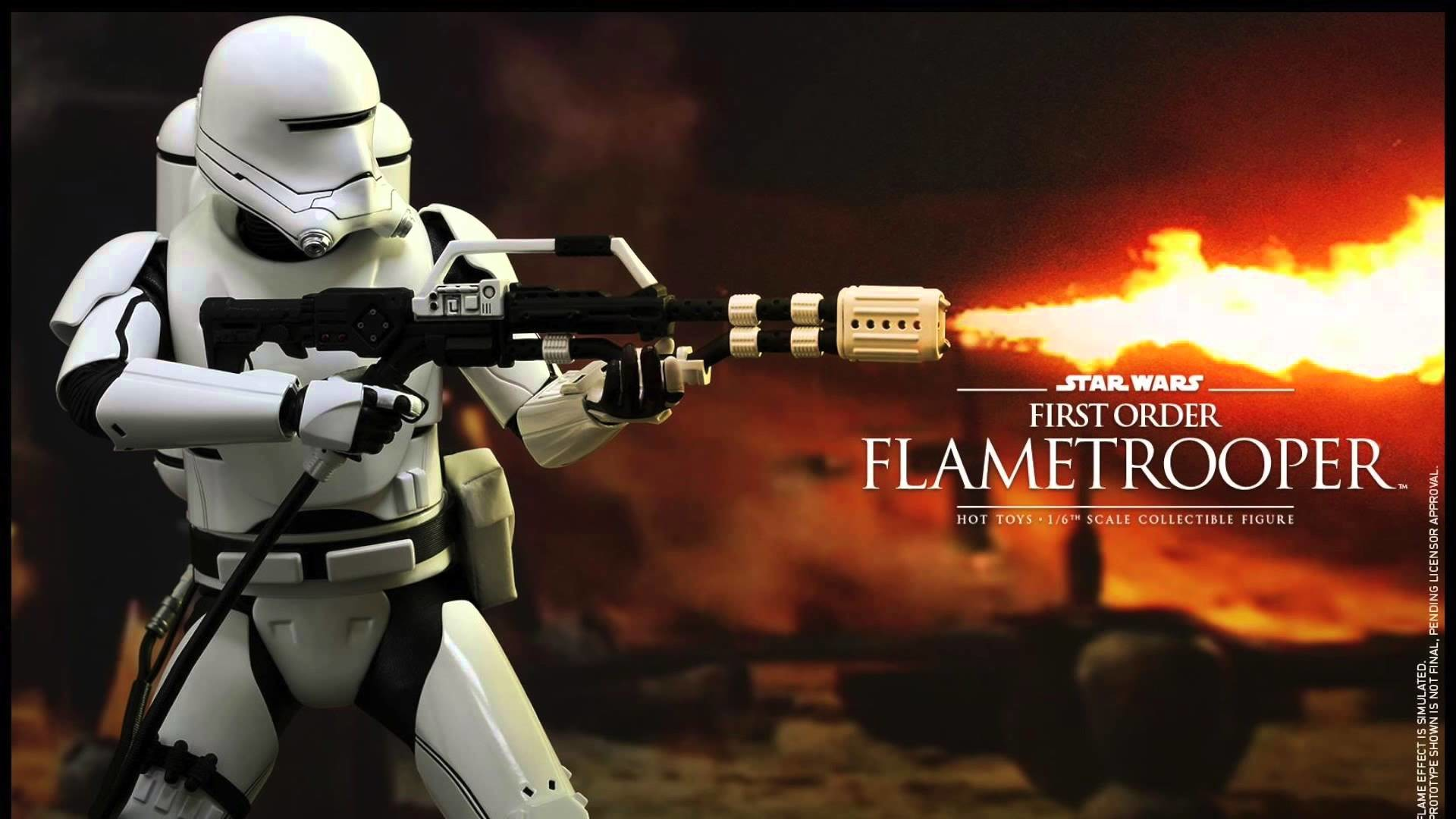 Star Wars The Force Awakens Hot Toys First Order Flametrooper 1/6 Scale  Movie Figure Revealed! – YouTube
