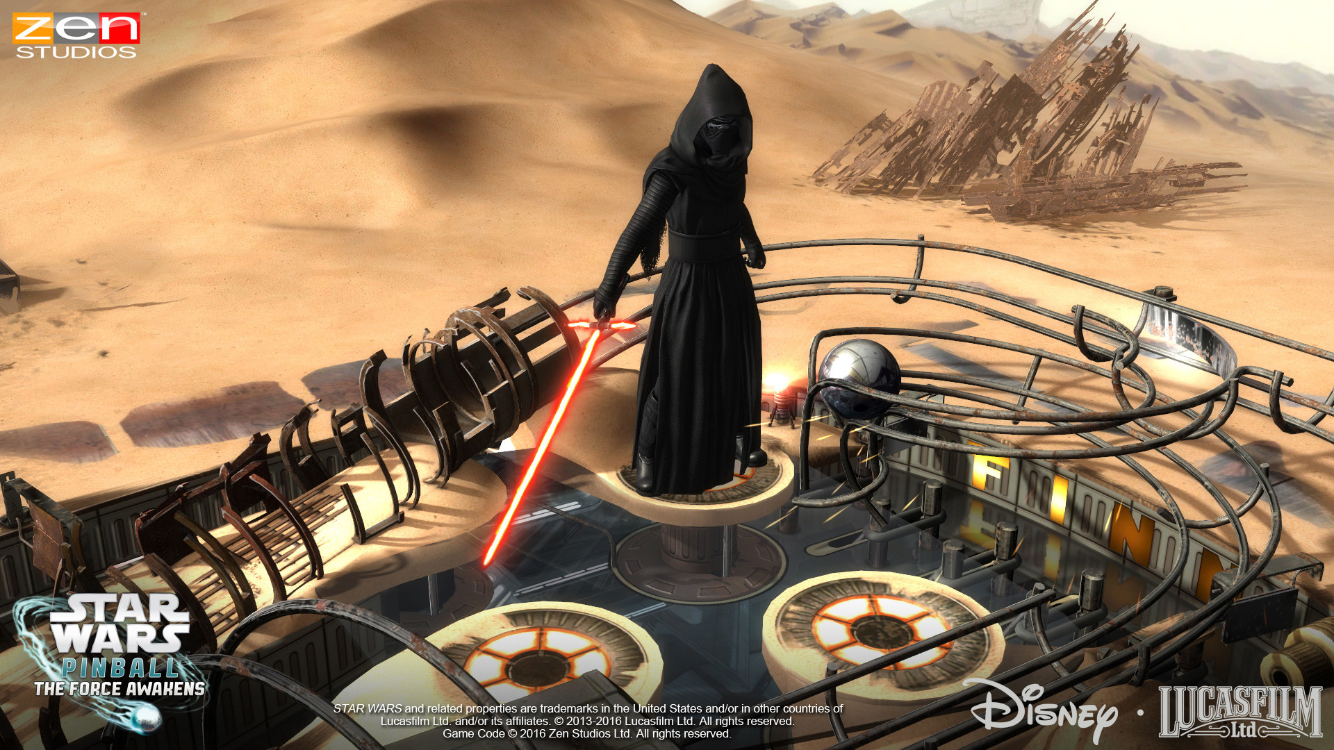 Star Wars™ Pinball: Might of the First Order puts players in command of the First  Order, tasked with extending its power to many planets in the galaxy.