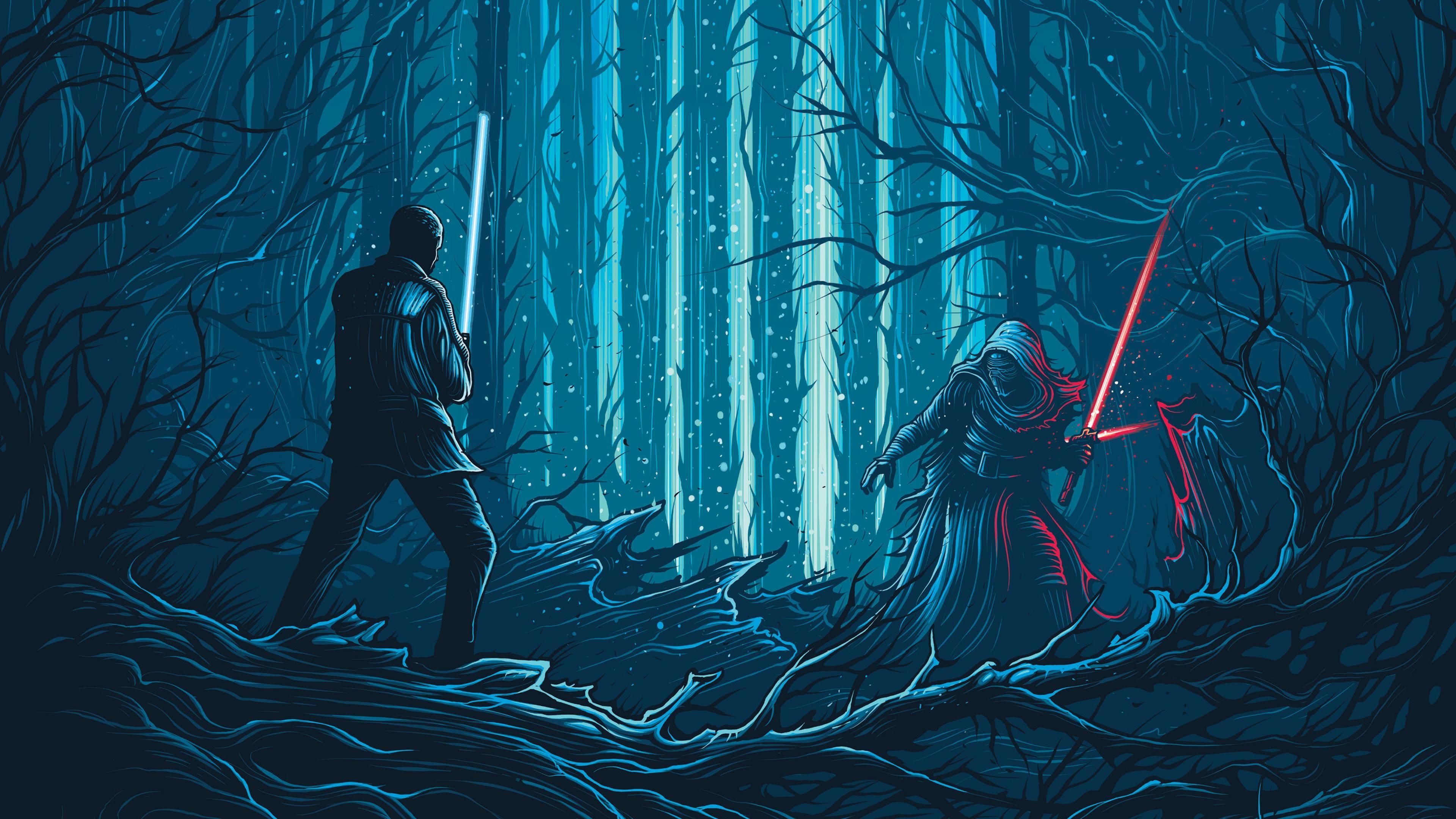 Star Wars The Force Awakens Artwork 4K Wallpaper
