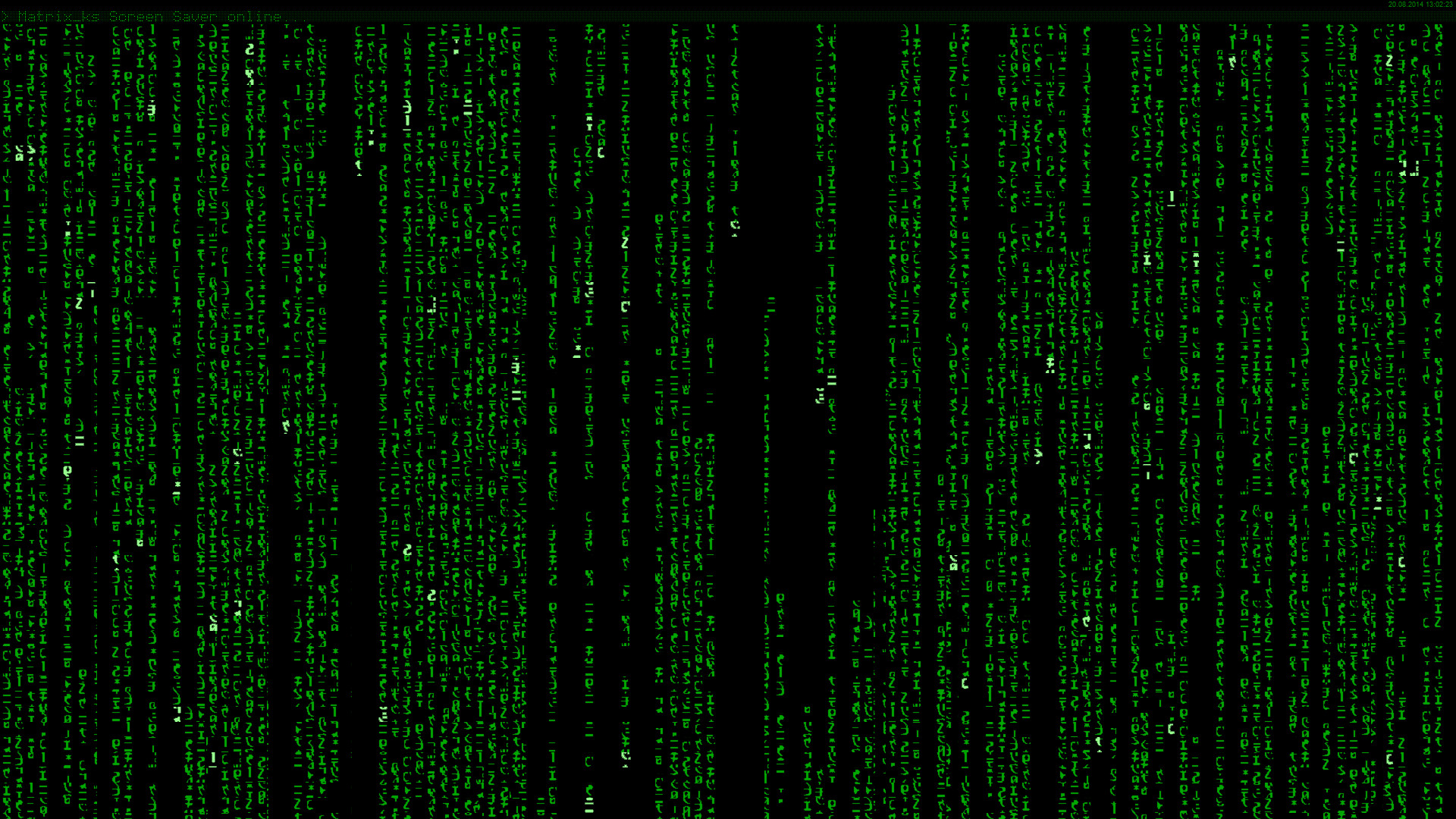 The Matrix Trilogy Screensaver
