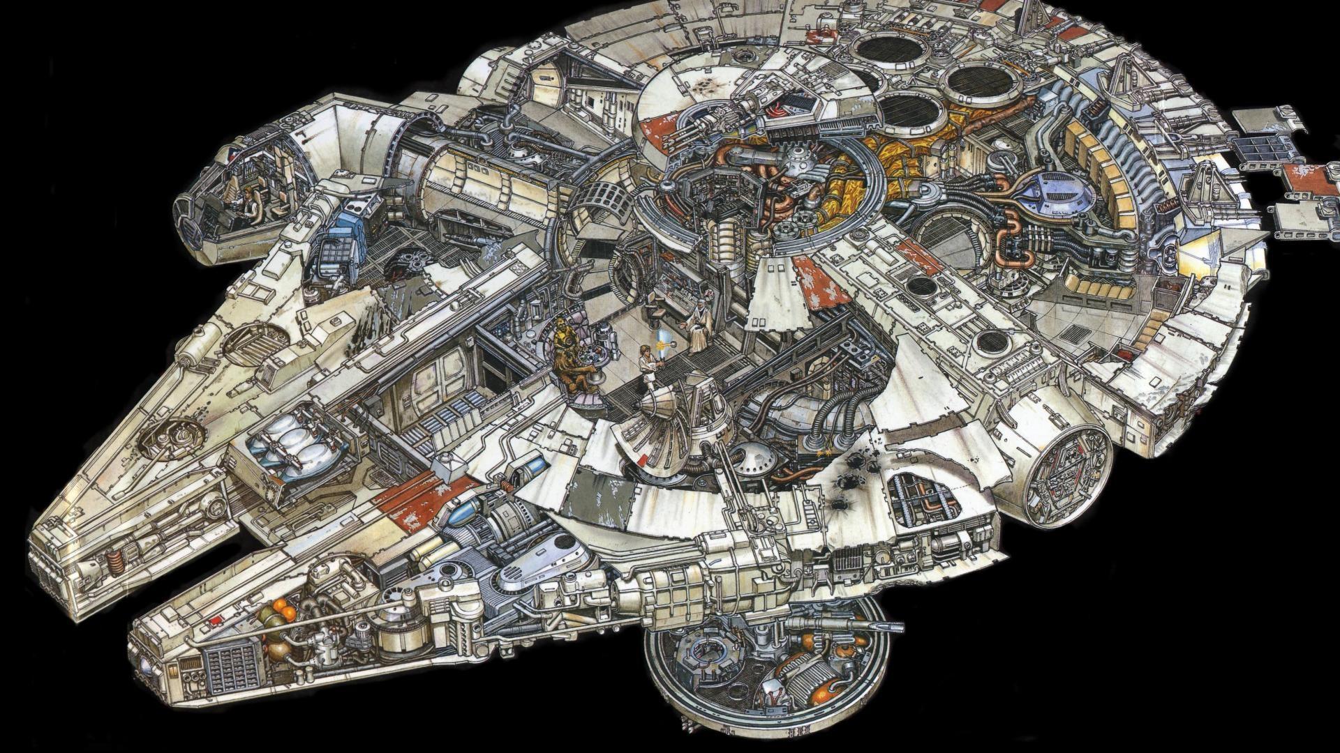 star wars movies spaceships millenium falcon hd wallpaper . …