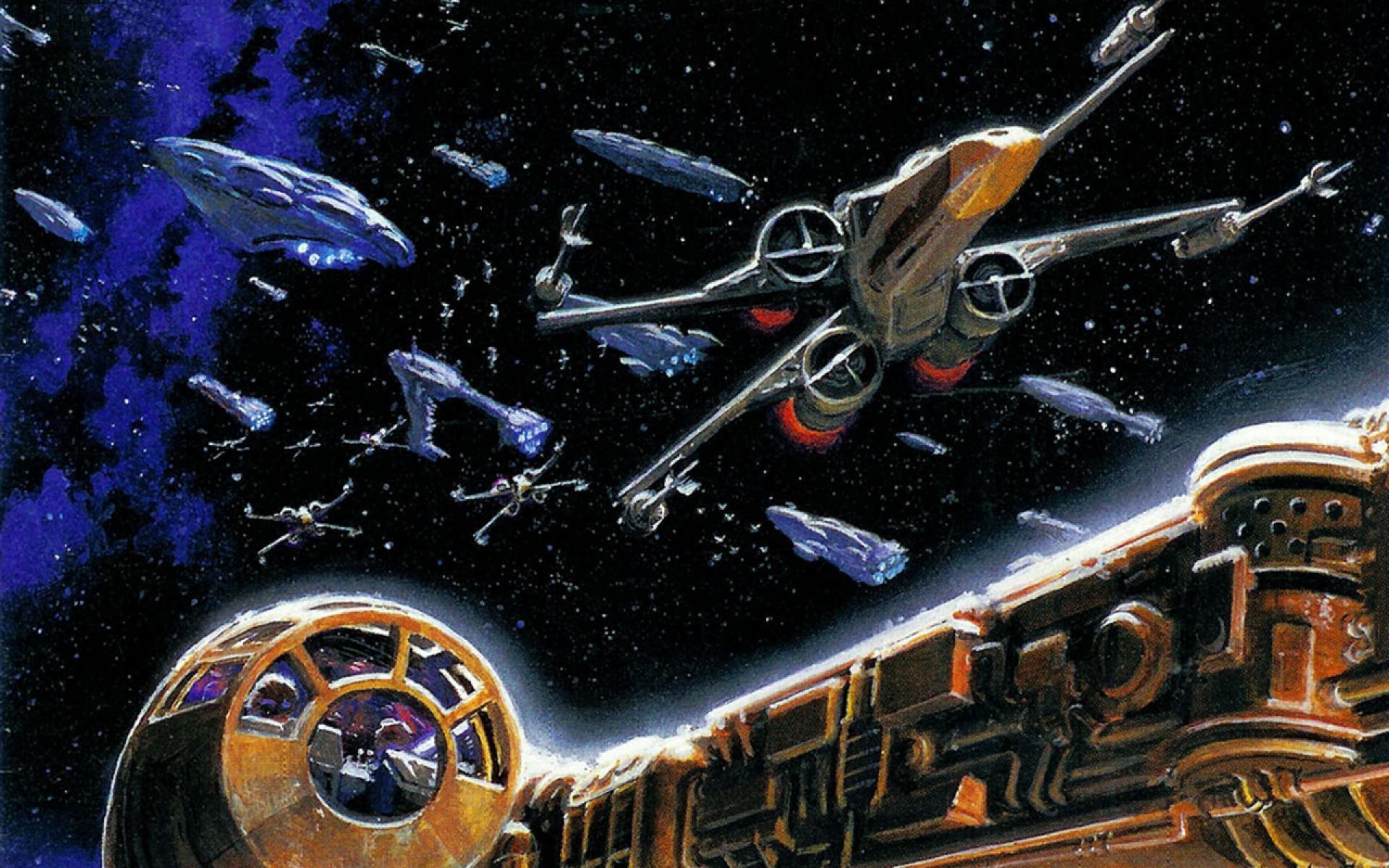 star-wars-millennium falcon-x-wing battle-hd-wallpaper