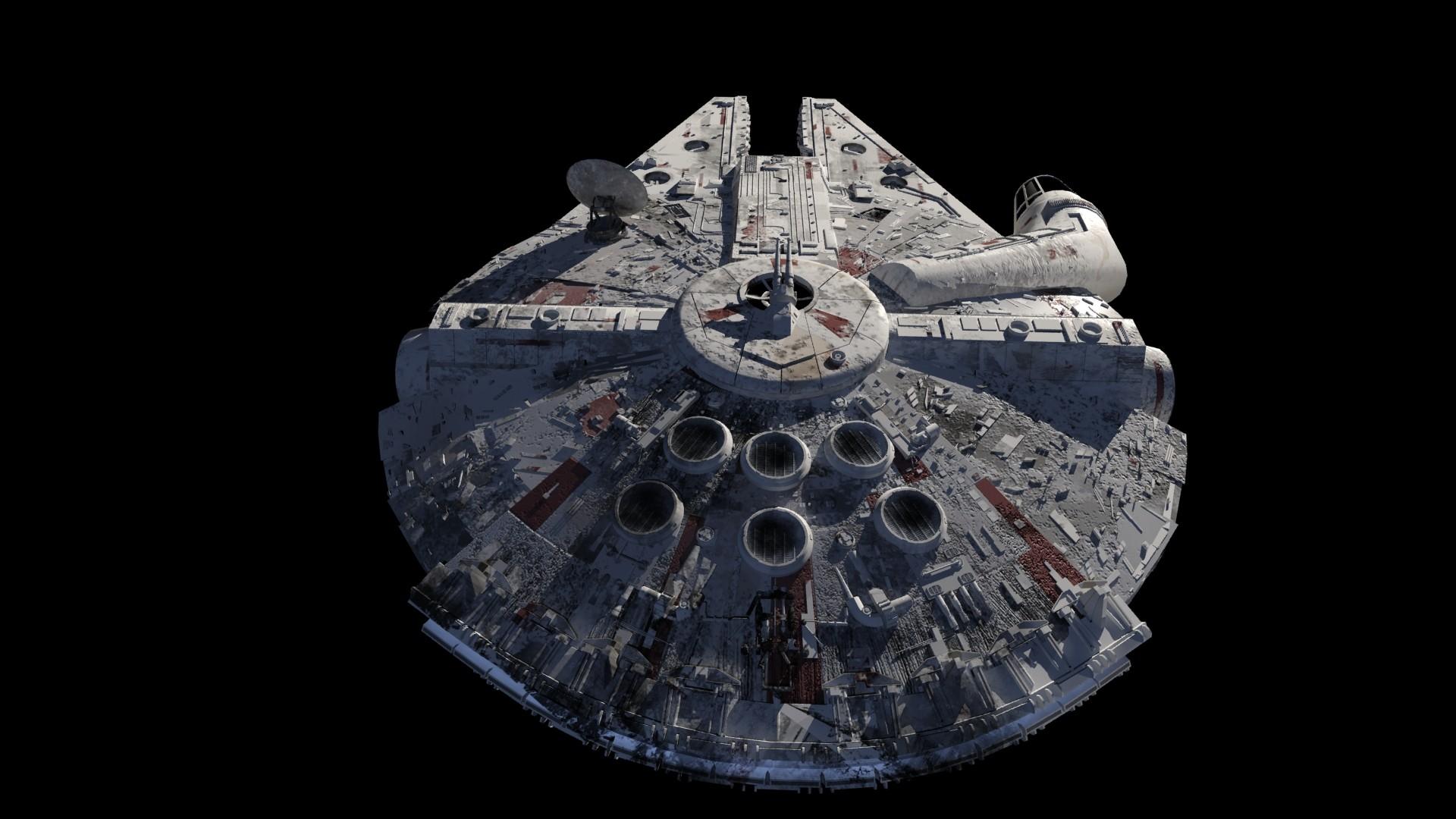 Millenium Falcon Back 3D by Teonardo Millenium Falcon Back 3D by Teonardo