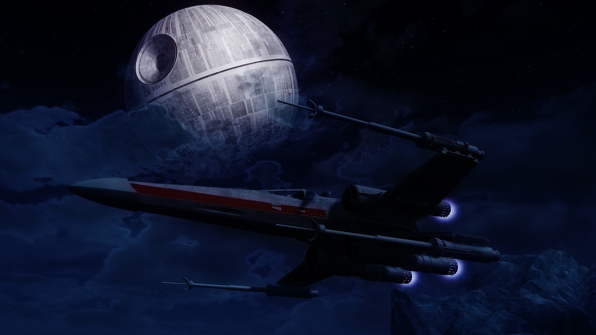 Star Wars, Artwork, Death Star, X wing Wallpapers HD / Desktop and Mobile  Backgrounds
